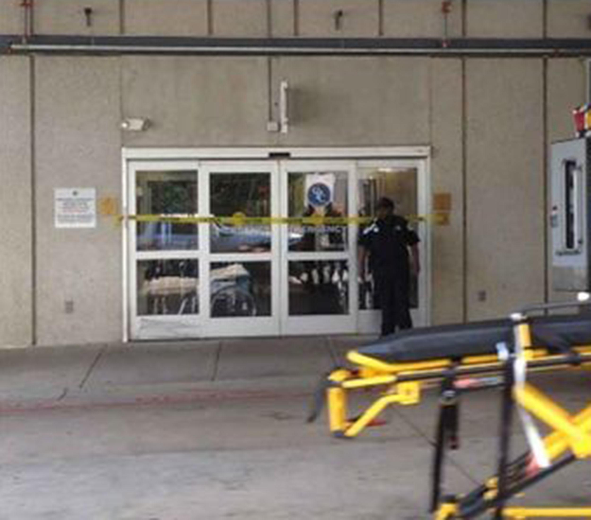 Image: Tape blocks the CMC emergency room in Charlotte, N.C. on July 30.