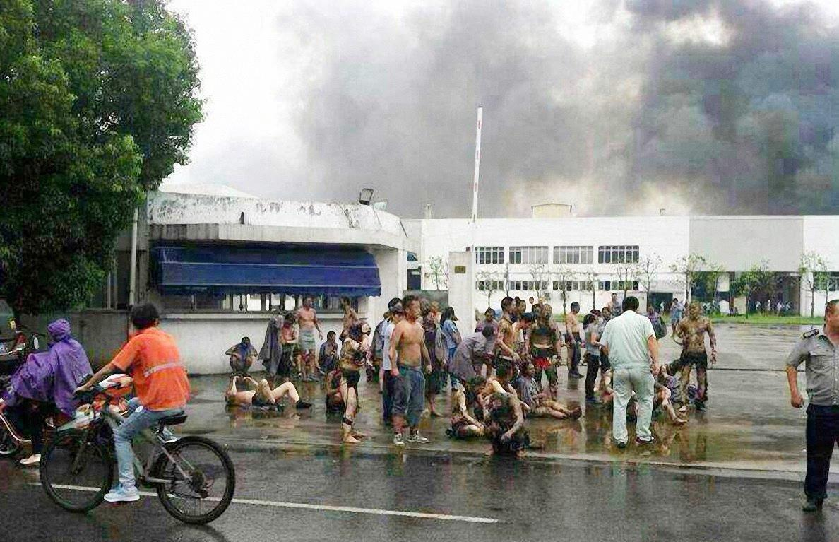 Image: A factory blast killed 65 in eastern China