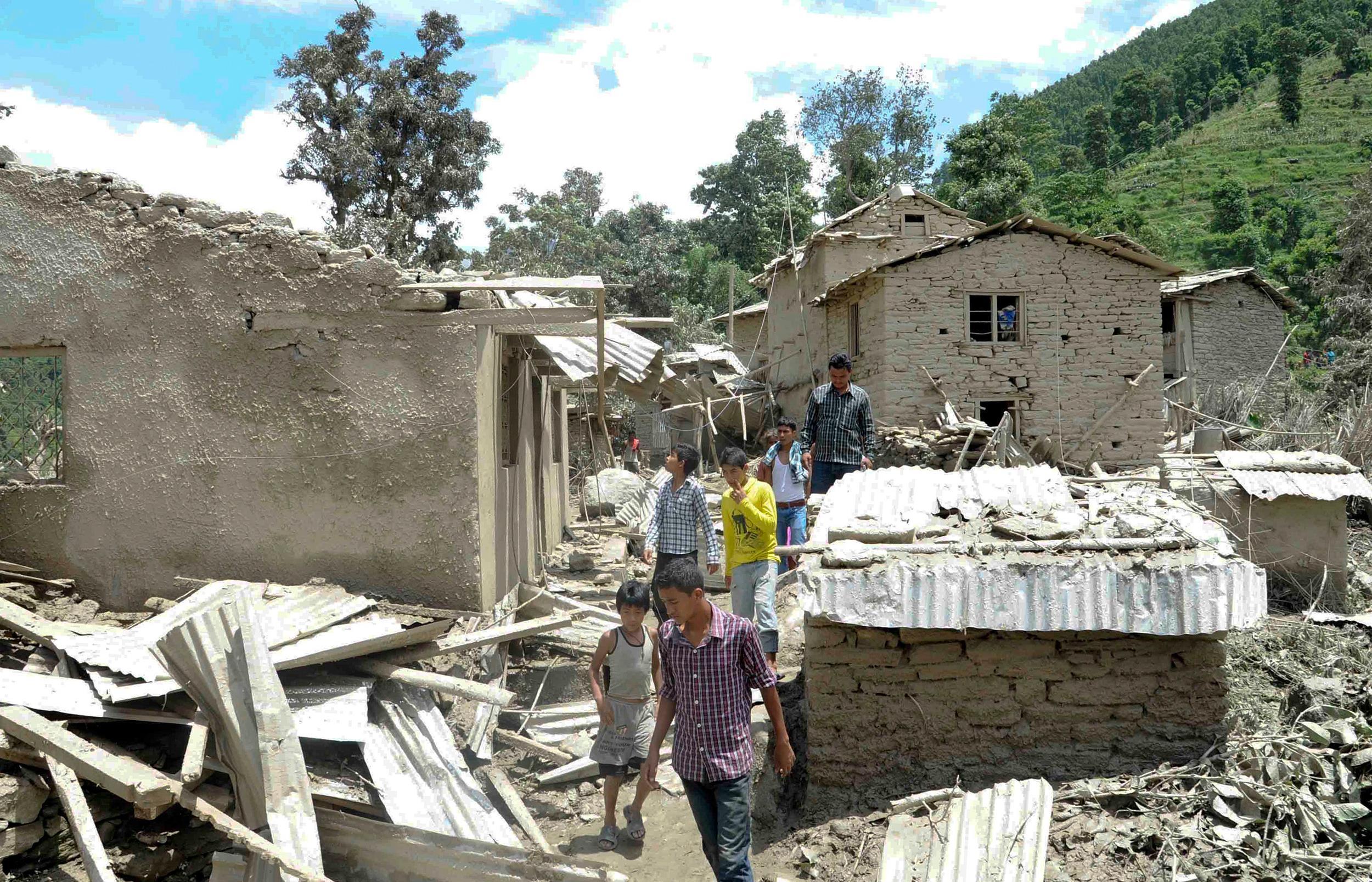 Image: Landslide area in Nepal