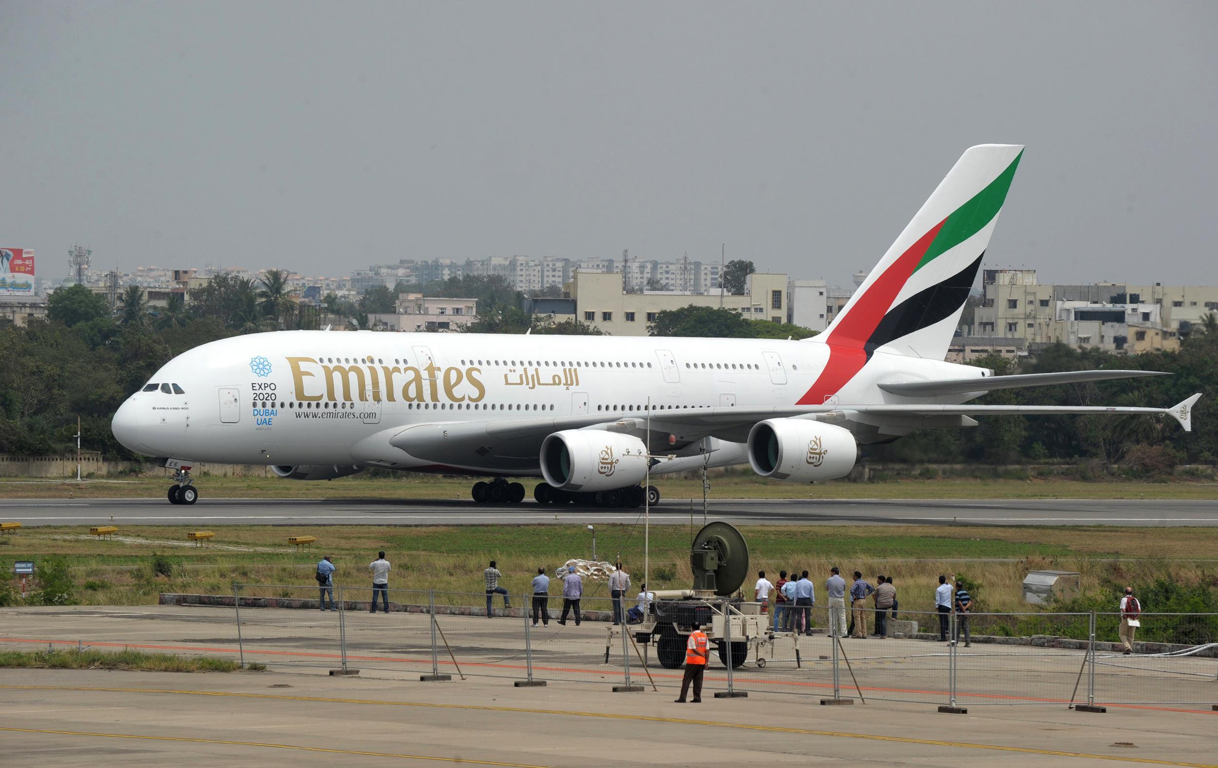 Image: An Emirates plane