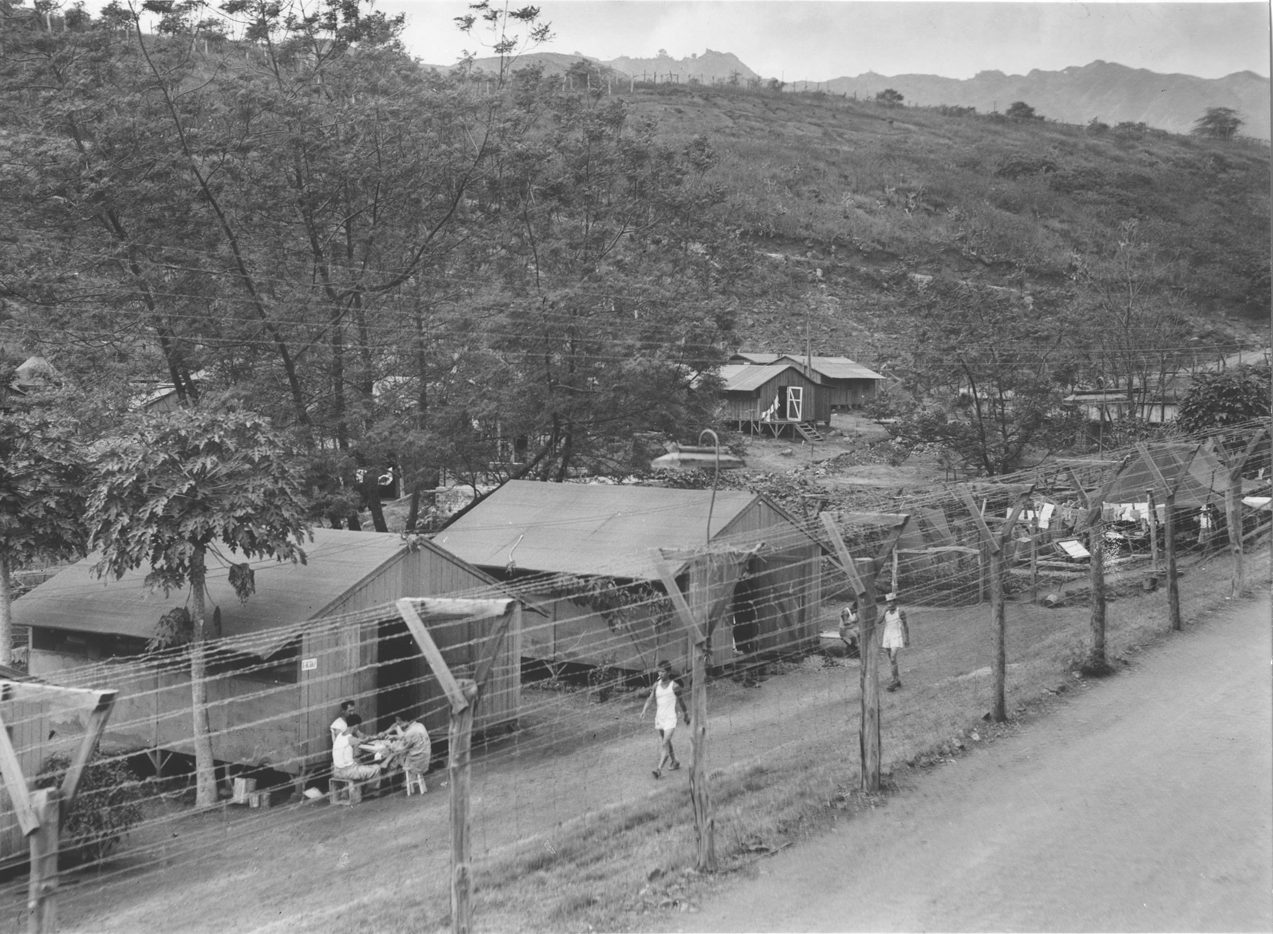 Image: Barracks at Honouliuli Internment Camp, circa 1945-46.