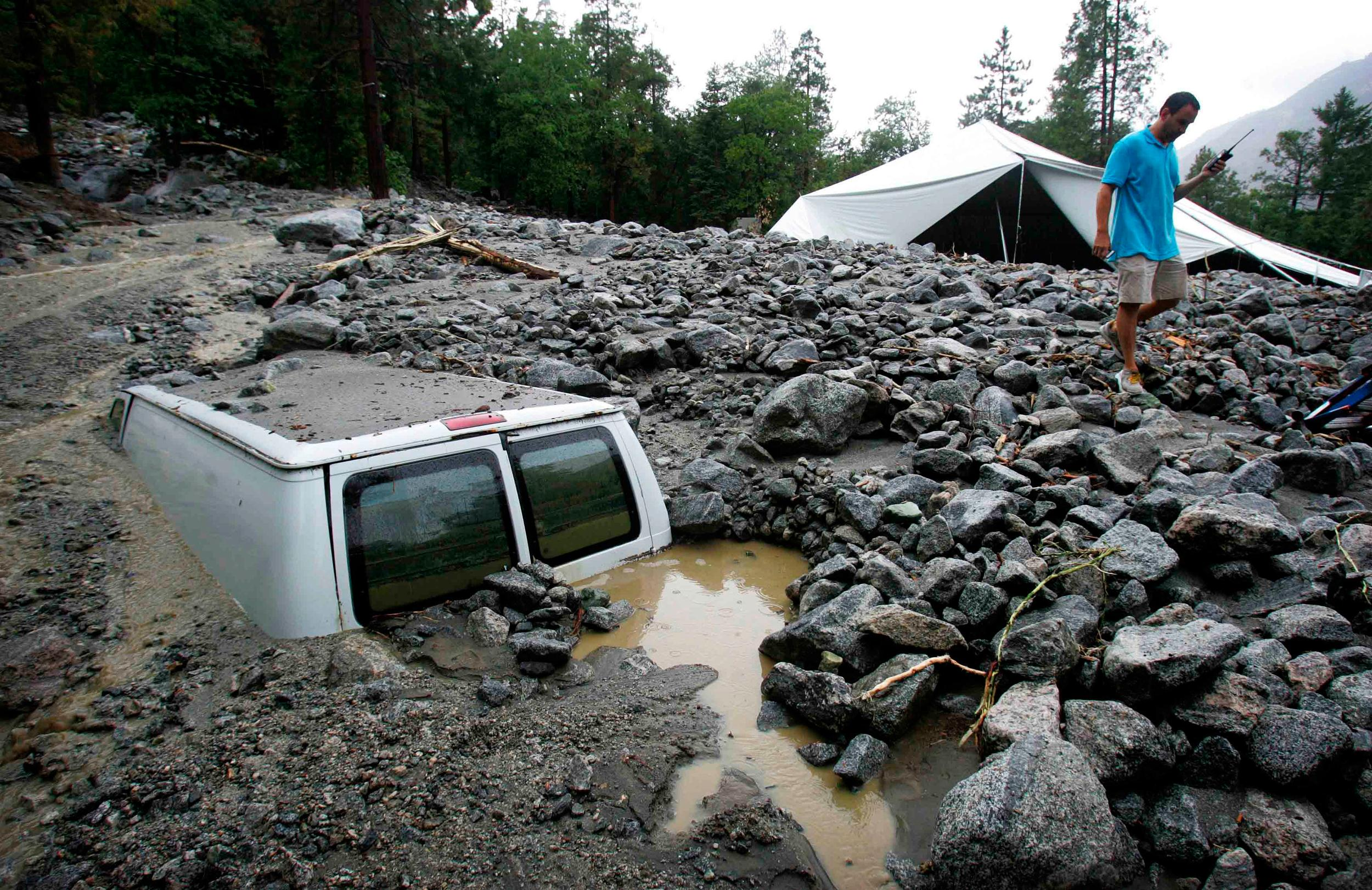 Image: Thunderstorm damage in Forest Falls, Calif.