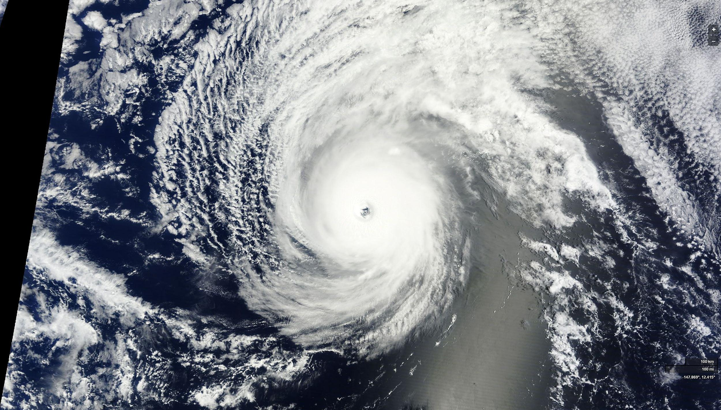 Satellite image of Hurricane Iselle on August 4, 2014.