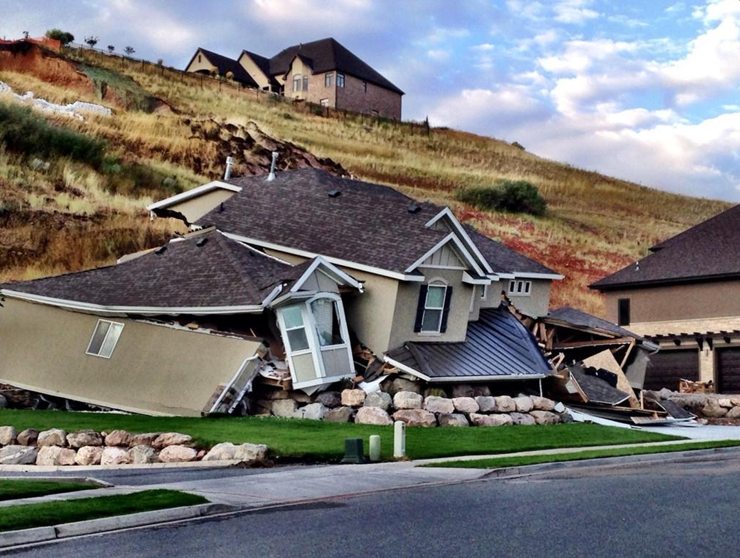 Utah Mudslide Destroys Home In North Salt Lake City Nbc News