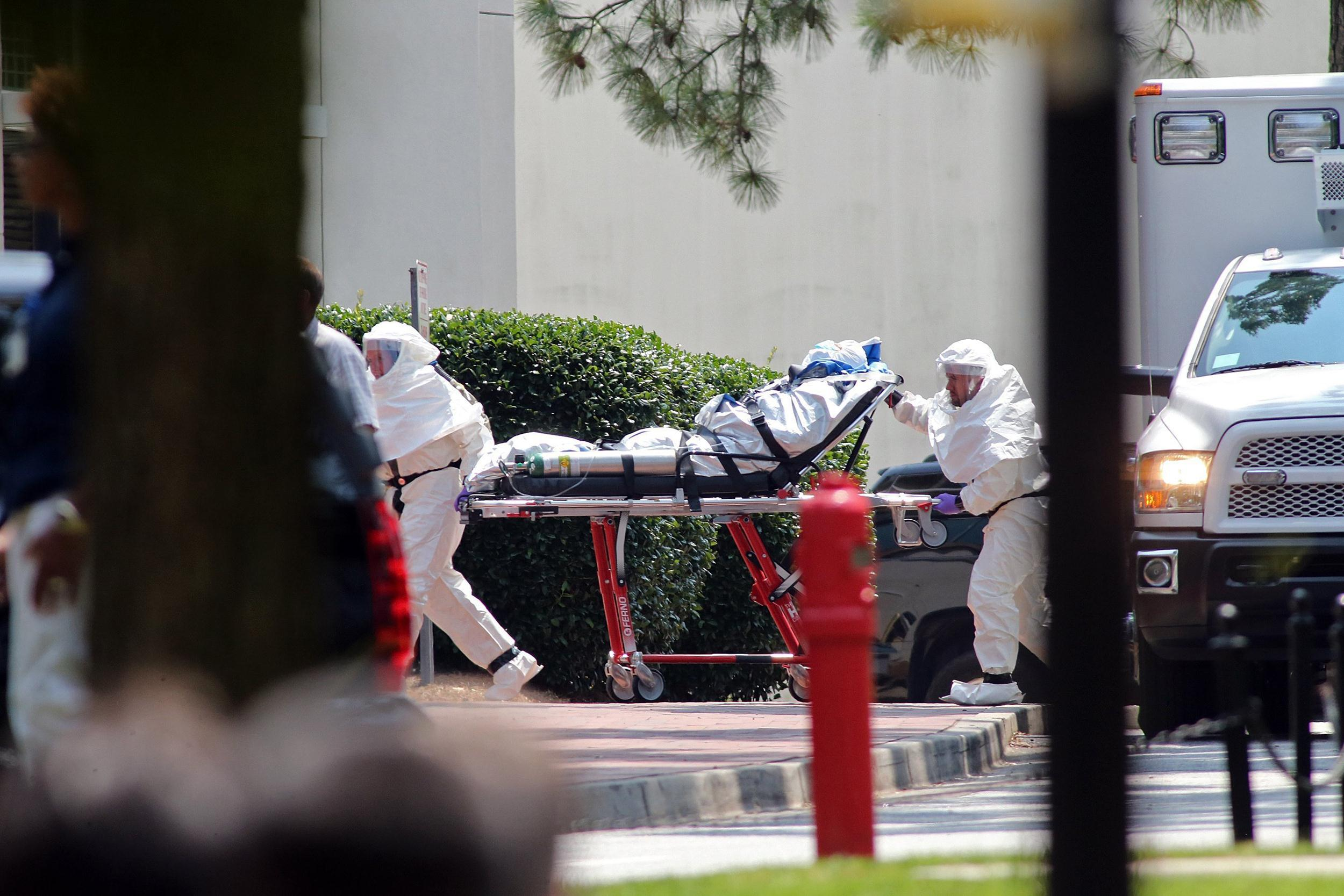 Image: Ebola patient Nancy Writebol arrives at Emory University Hospital in Atlanta, Ga., on Tuesday.