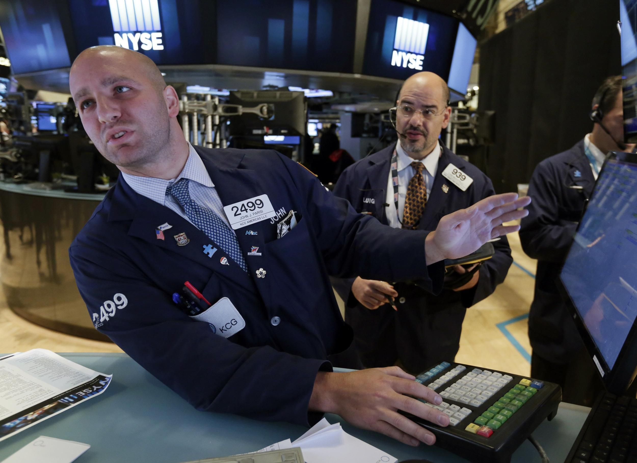 The Dow fell 139 points on Tuesday on reports of fighting in Ukraine and concerns that the Fed will soon raise interest rates.