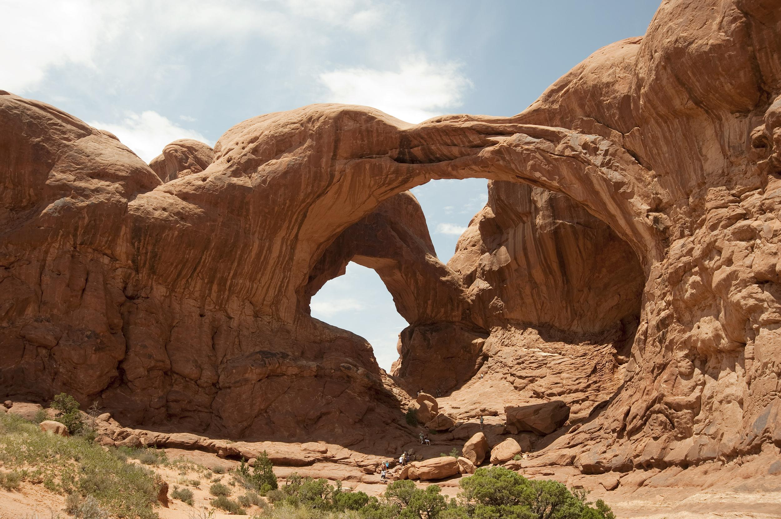 Image: Double arch at Arches National Park near Moab, Utah on July 4, 2011.