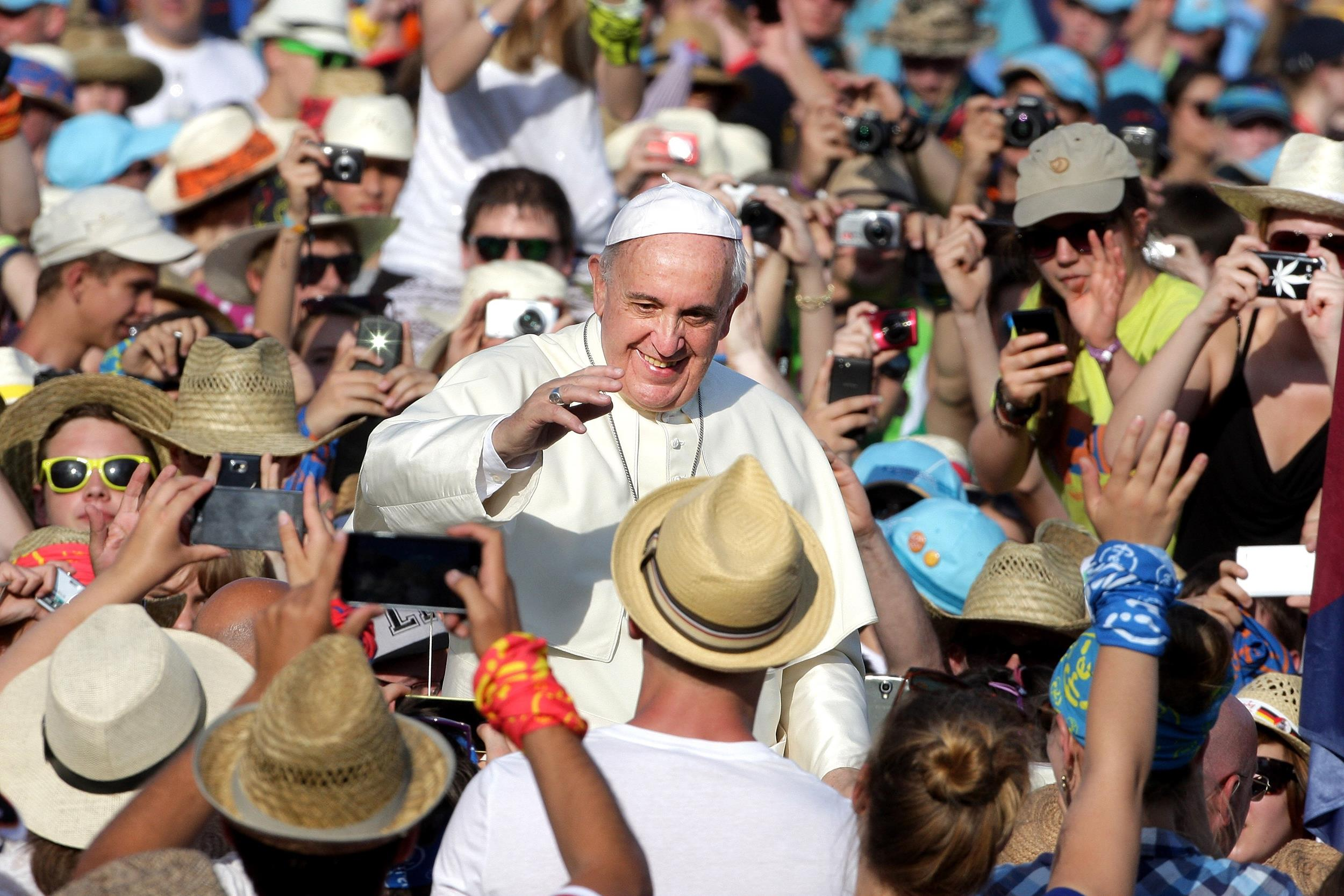 Image: Pope Francis Meets German Altar Servers