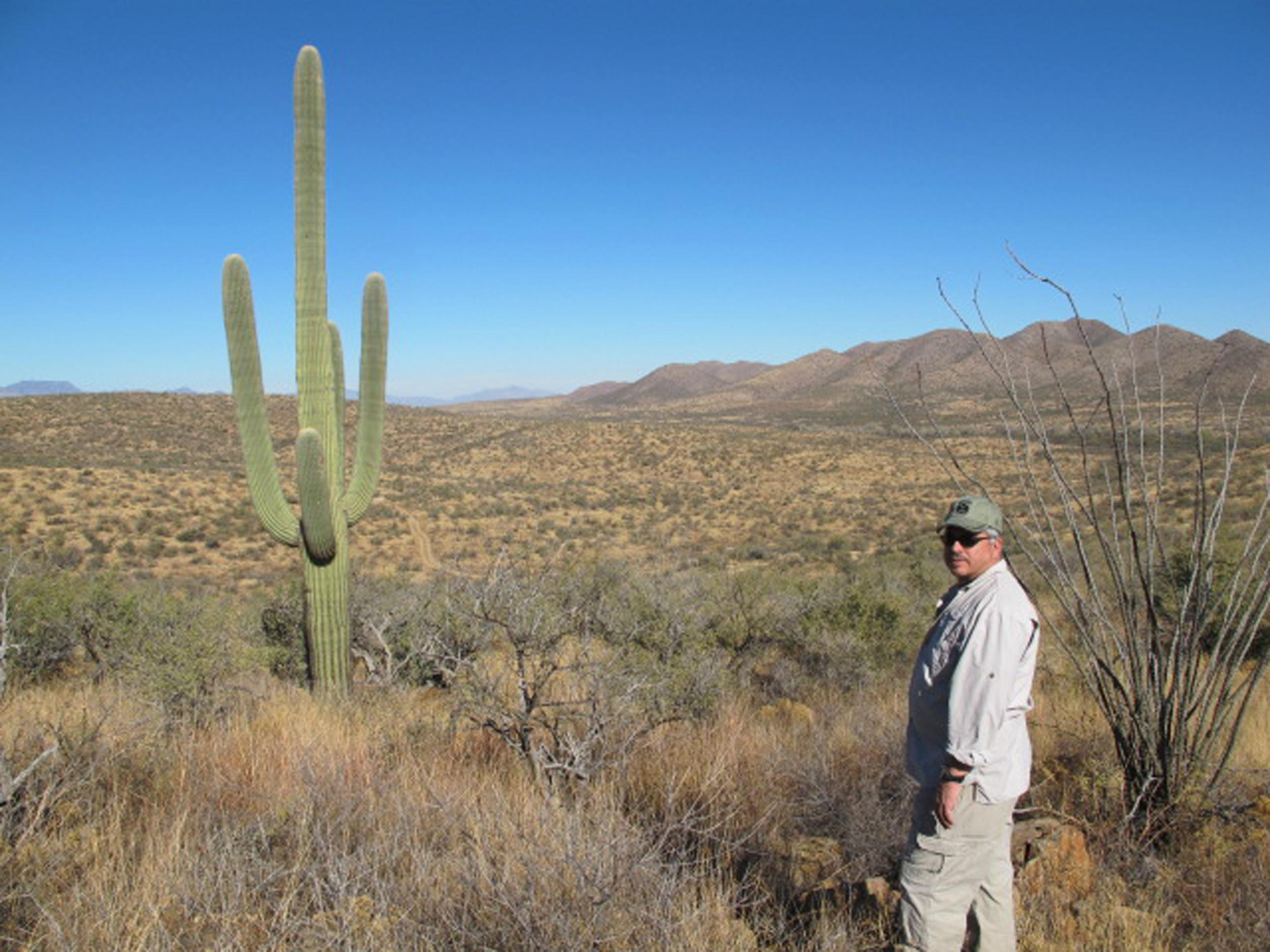Image: Anthony Coulson, former DEA ASAC, visits the Chilton ranch on the U.S. and Mexico border in