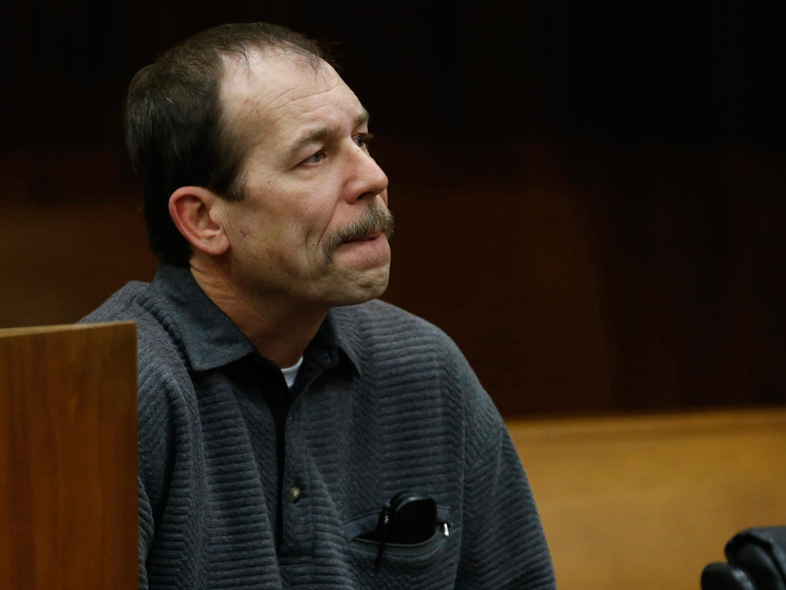 Image: File photo of Theodore Wafer sitting in the court room during his arraignment in Detroit, Michigan