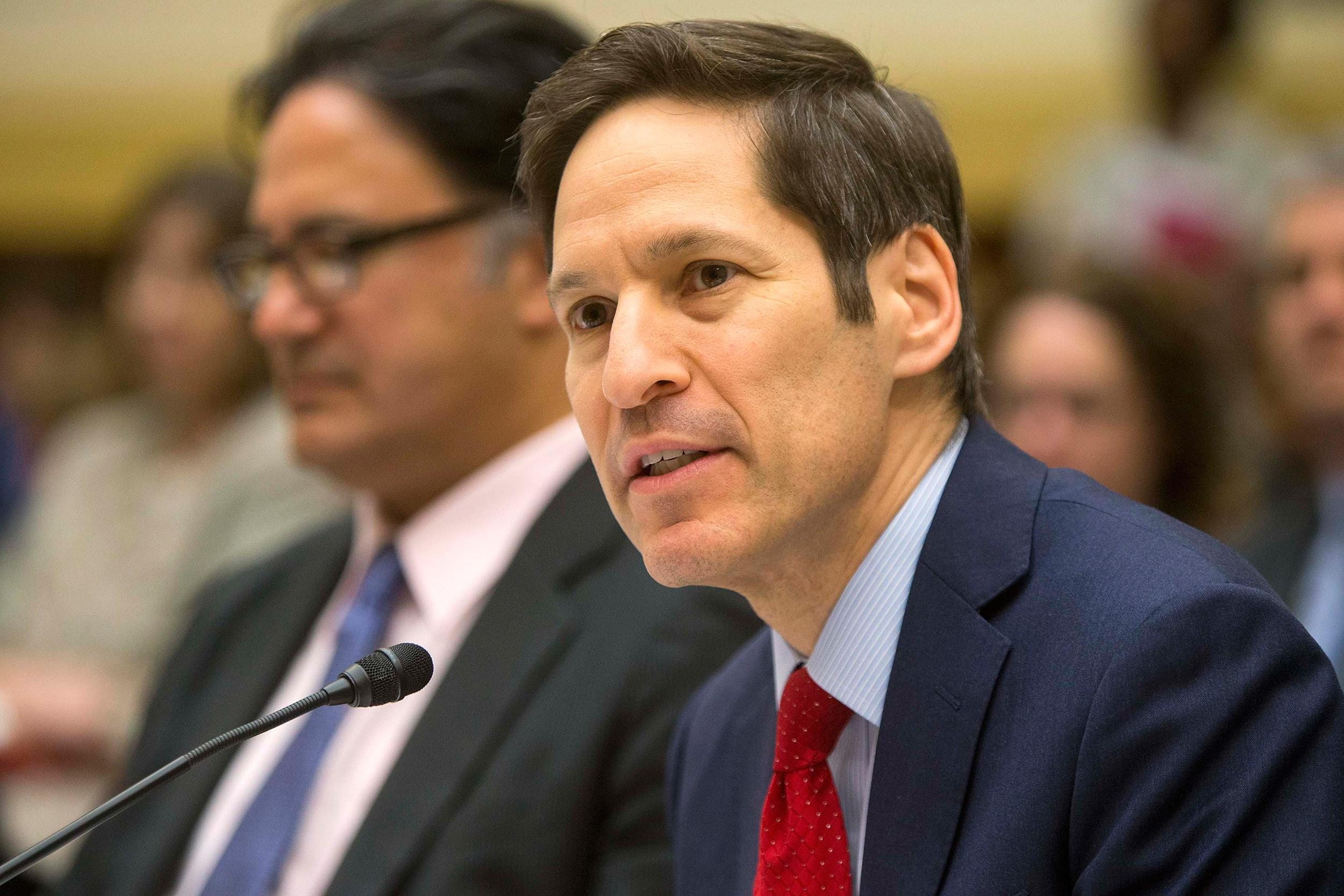 Image: Frieden testifies about the Ebola crisis in West Africa during a hearing of a House Foreign Affairs subcommittee on Capitol Hill in Washington