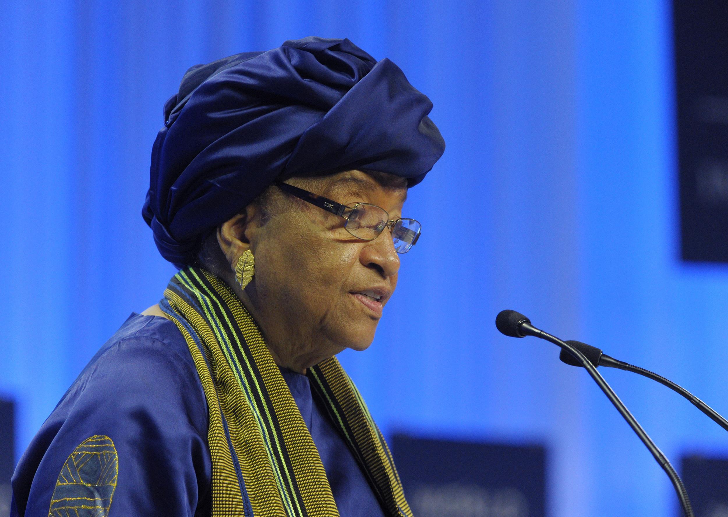 Image: Liberia's President Ellen Johnson-Sirleaf