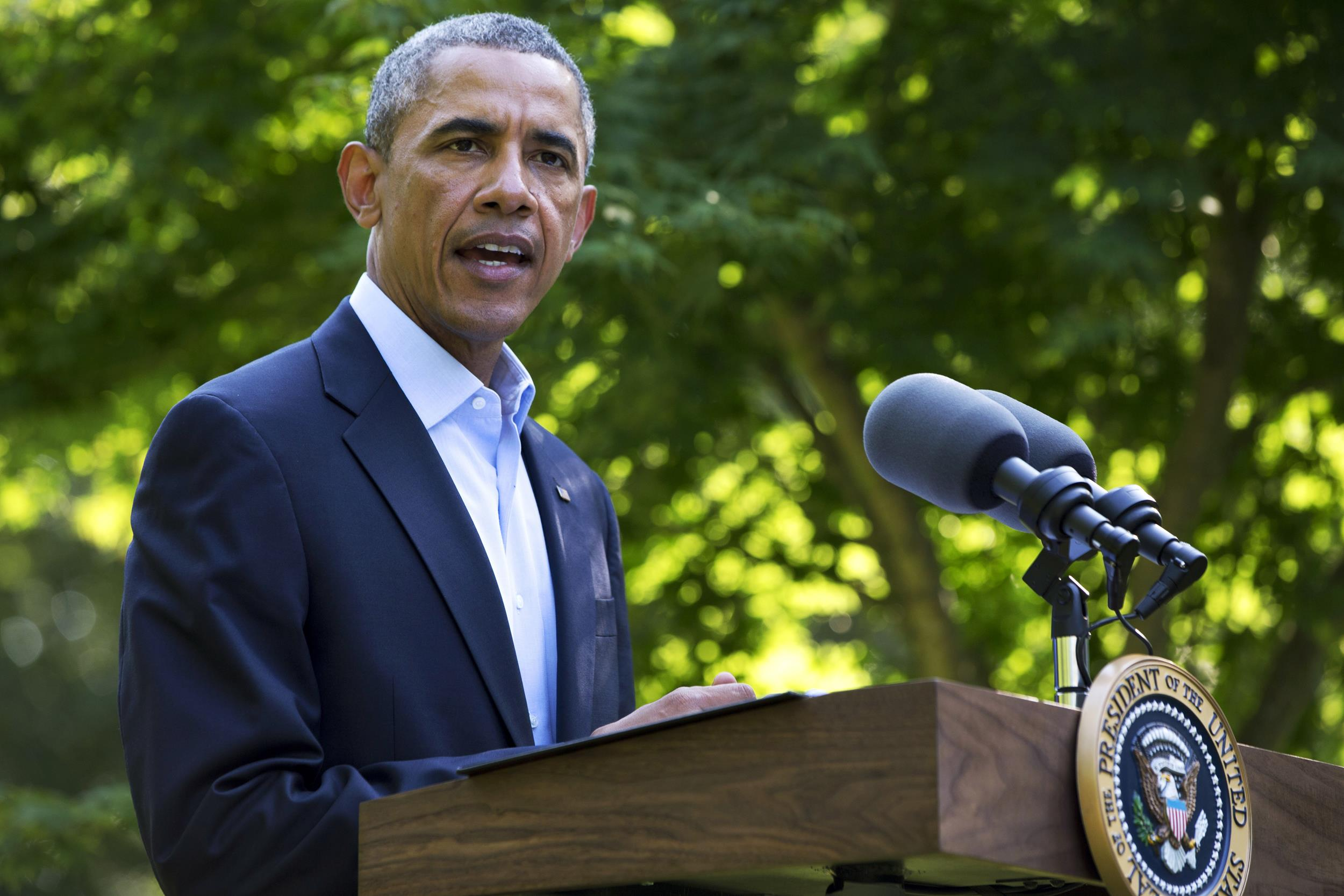 Image: President Barack Obama speaks about developments in Iraq