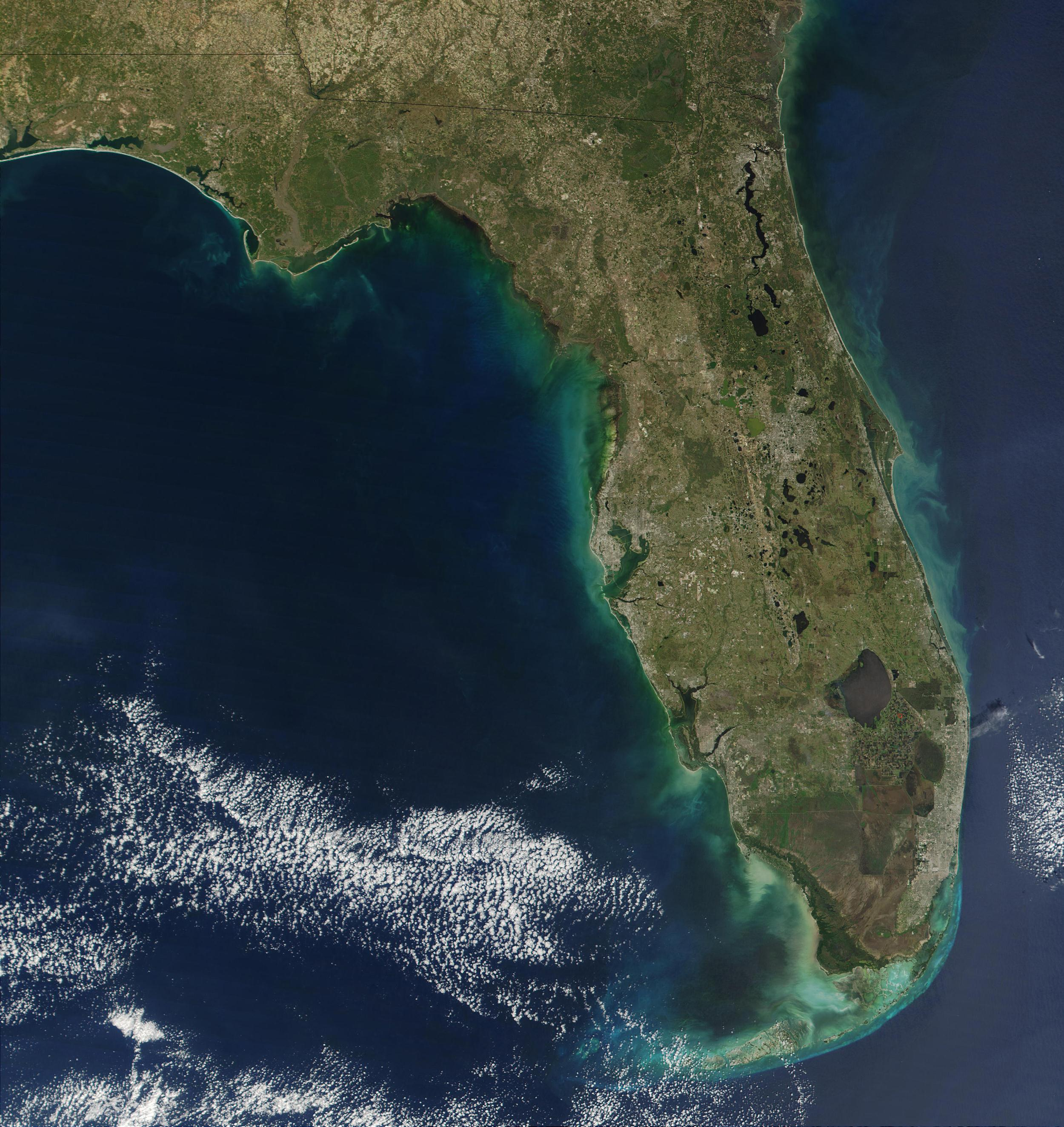Massive Red Tide Threatens Florida Beaches NBC News - Satellite maps florida