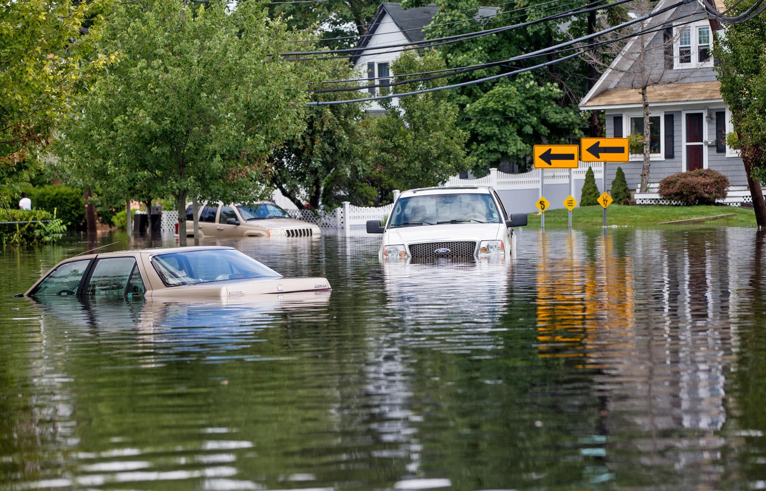 Image: Parts Of Long Island, New York Inundated With Flash Floods