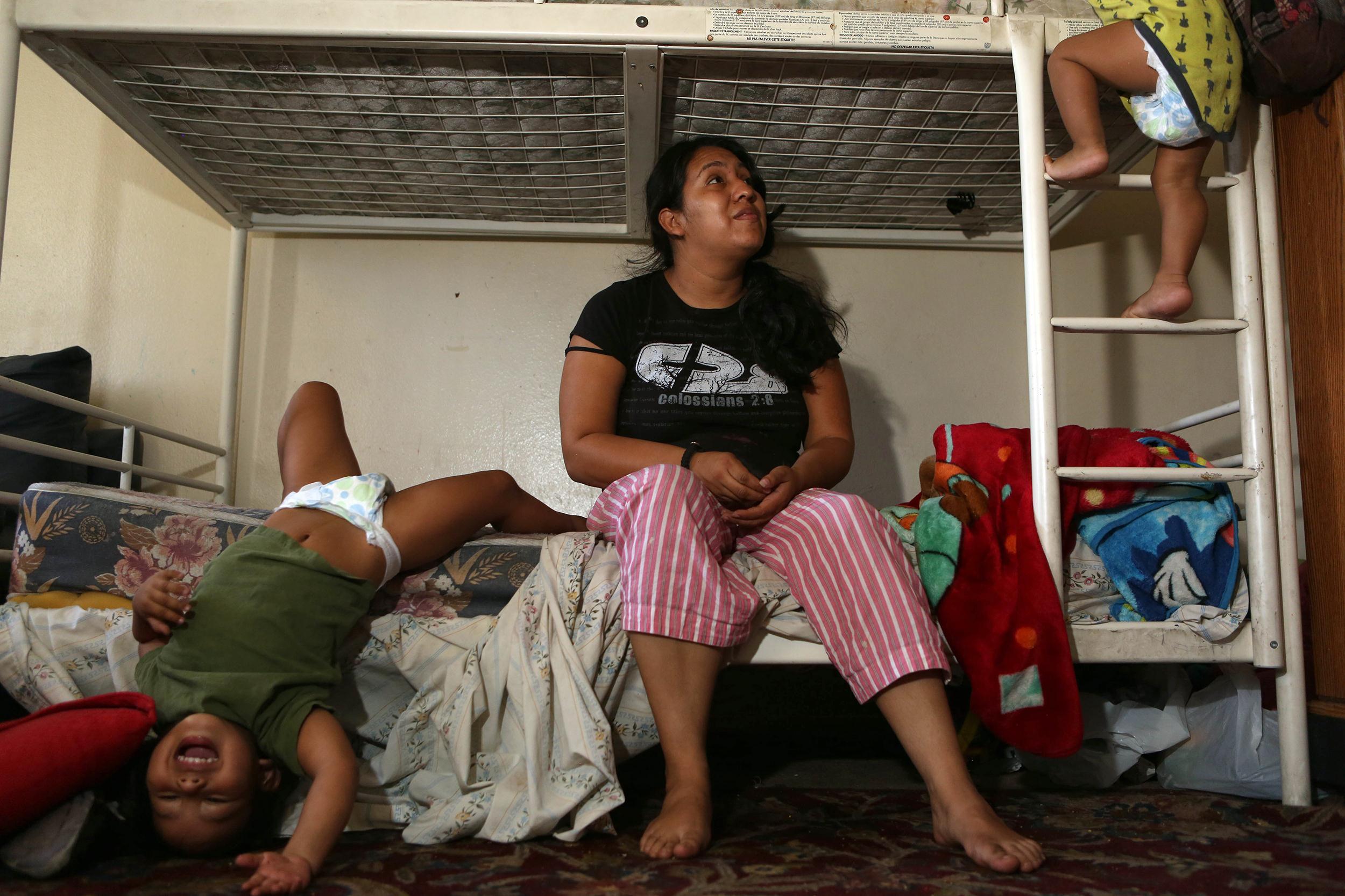 Image: Miriam Villatoro with two of her four kids