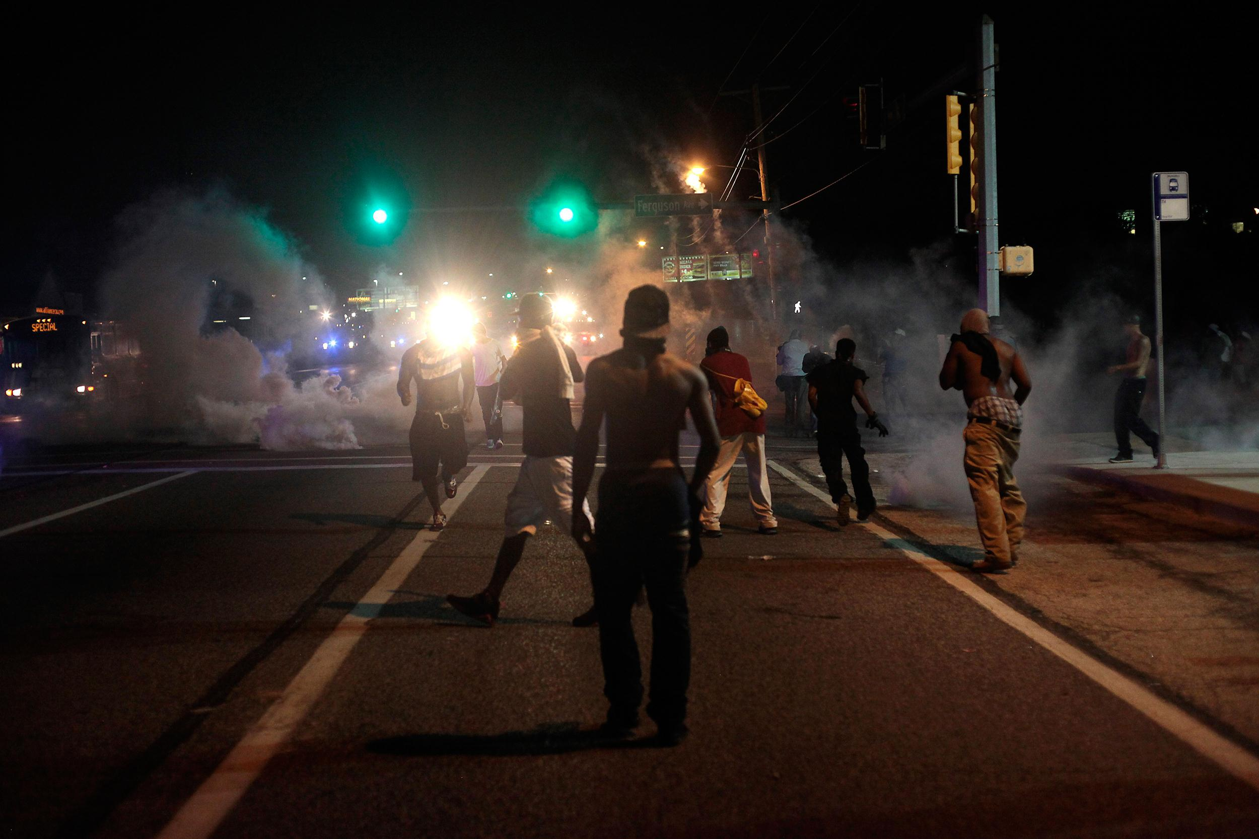 Image: Unrest over police shooting death in Ferguson
