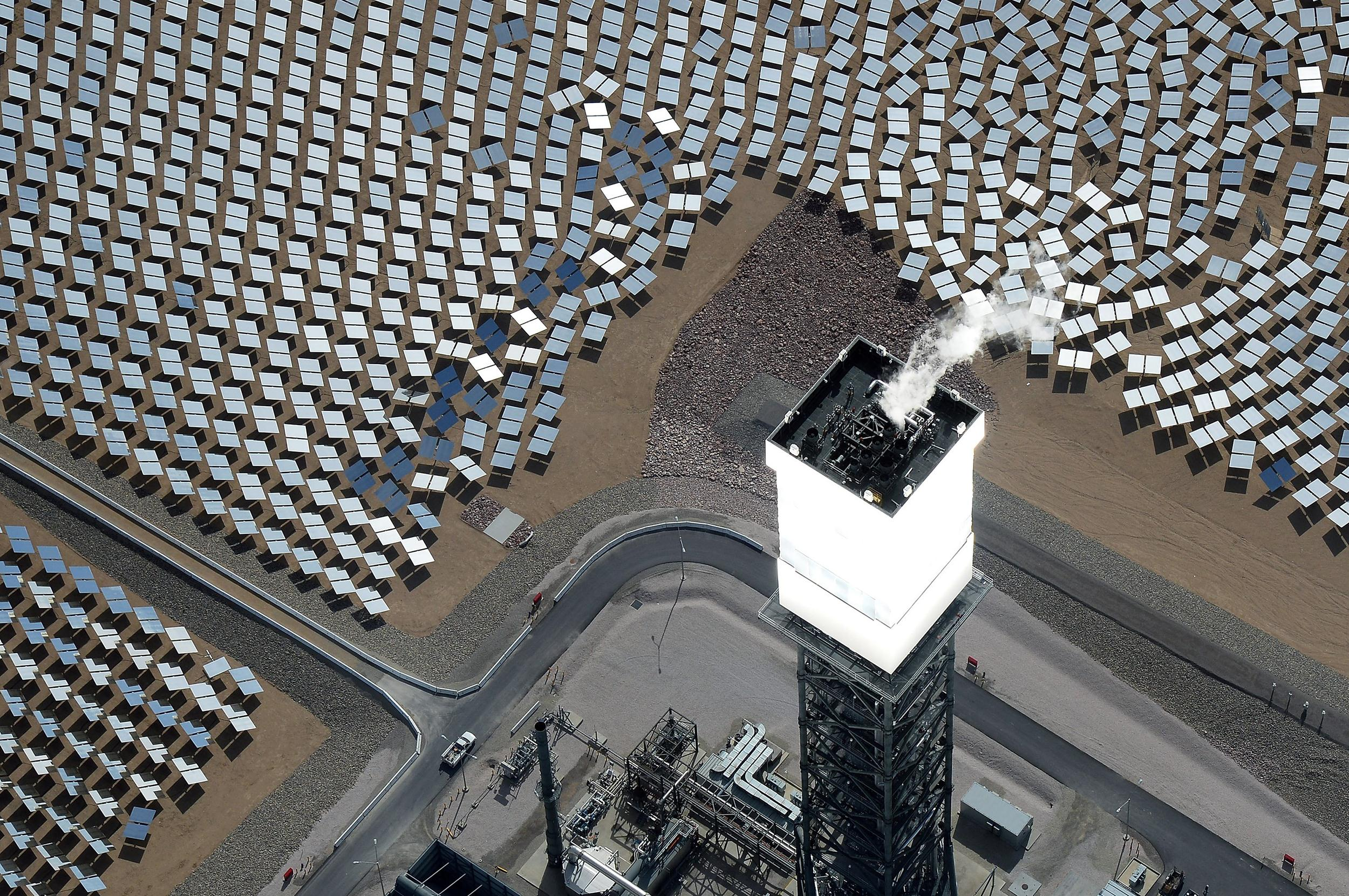 Image: Solar powered BrightSource Energy plant