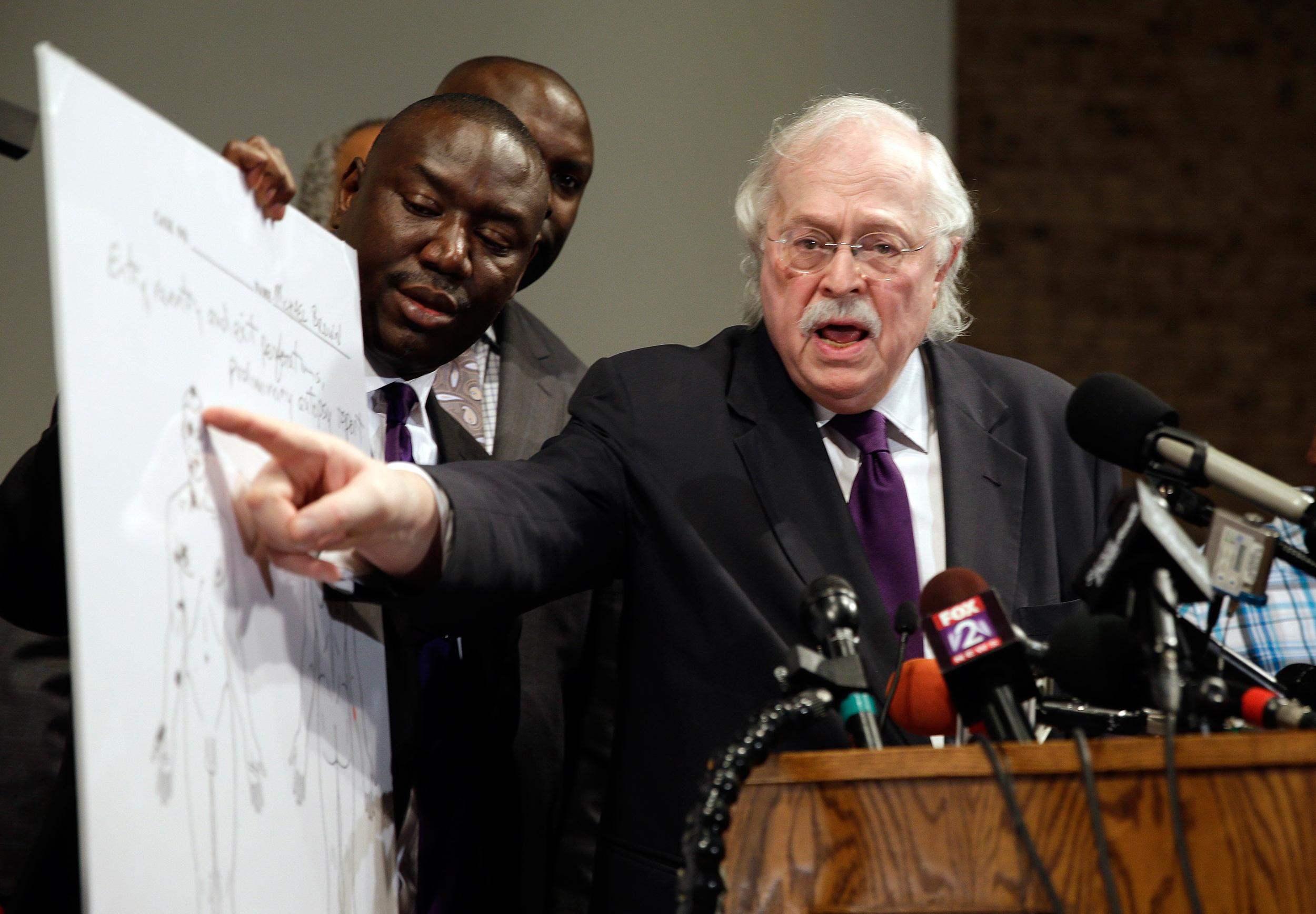 Image: Michael Baden performed an autopsy on Michael Brown