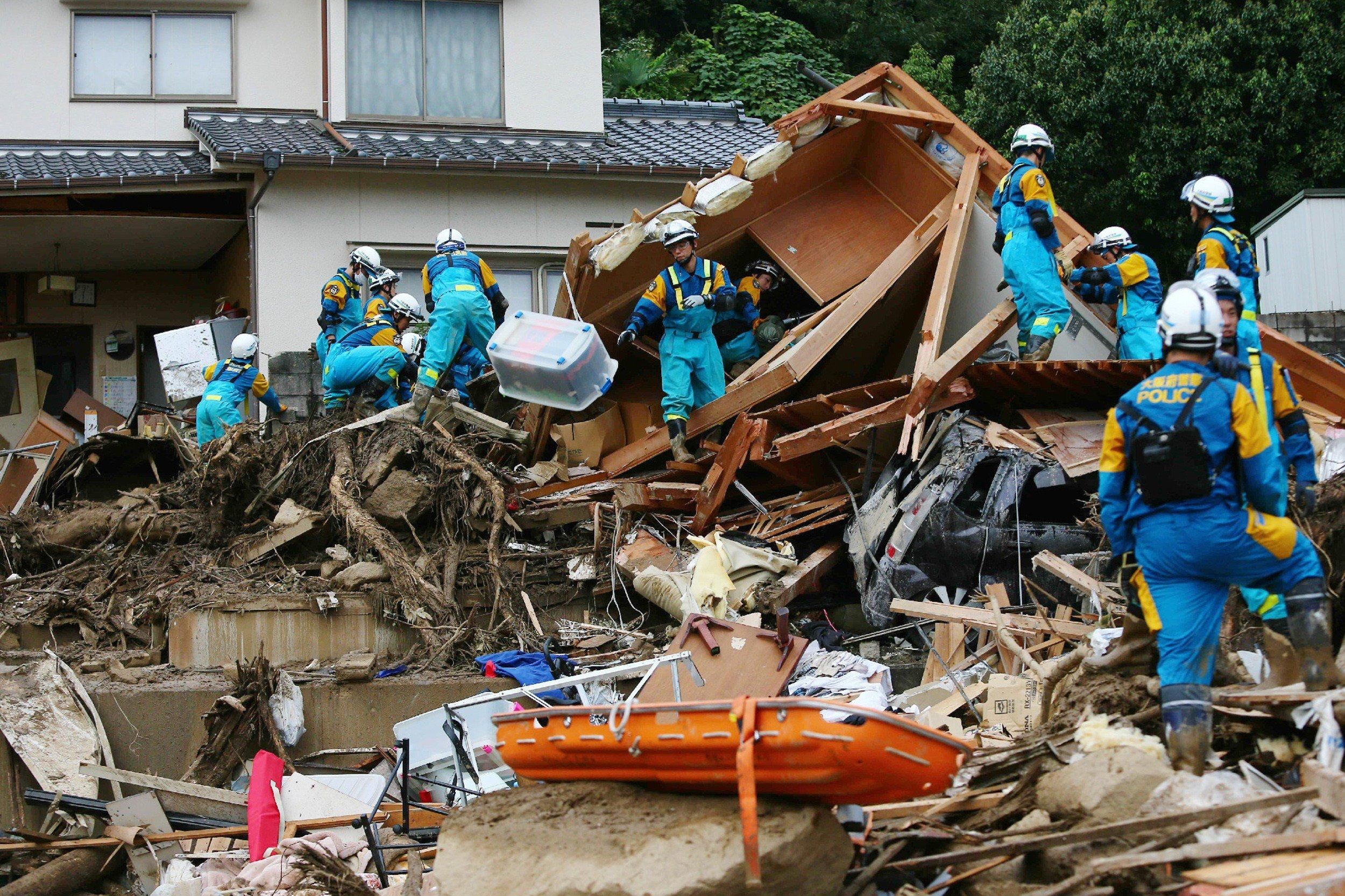 Image: Aftermath of landslide in Hiroshima, Japan