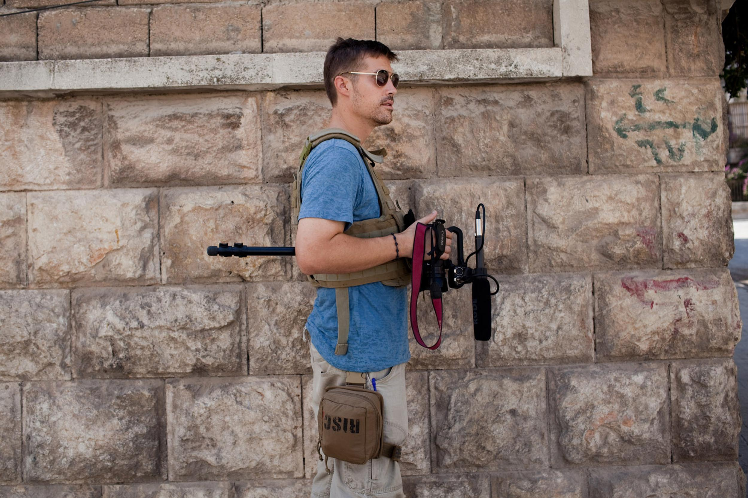Image: James Foley in Aleppo, Syria, in 2012.