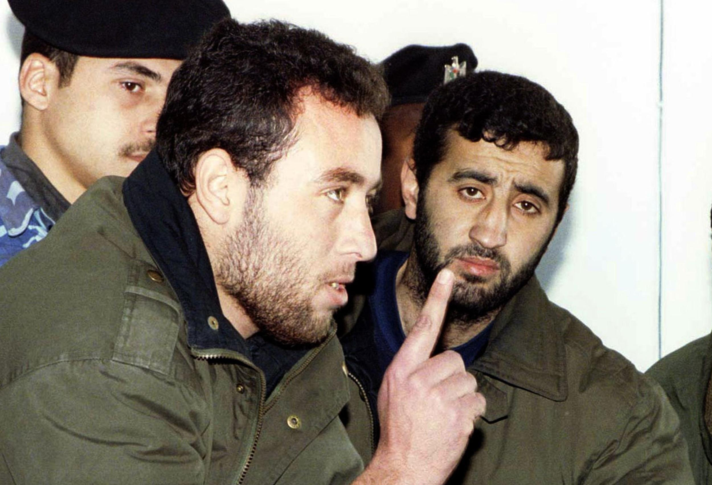 Image: Raed al-Attar, left, and Mohammed Abu Shammala from Hamas