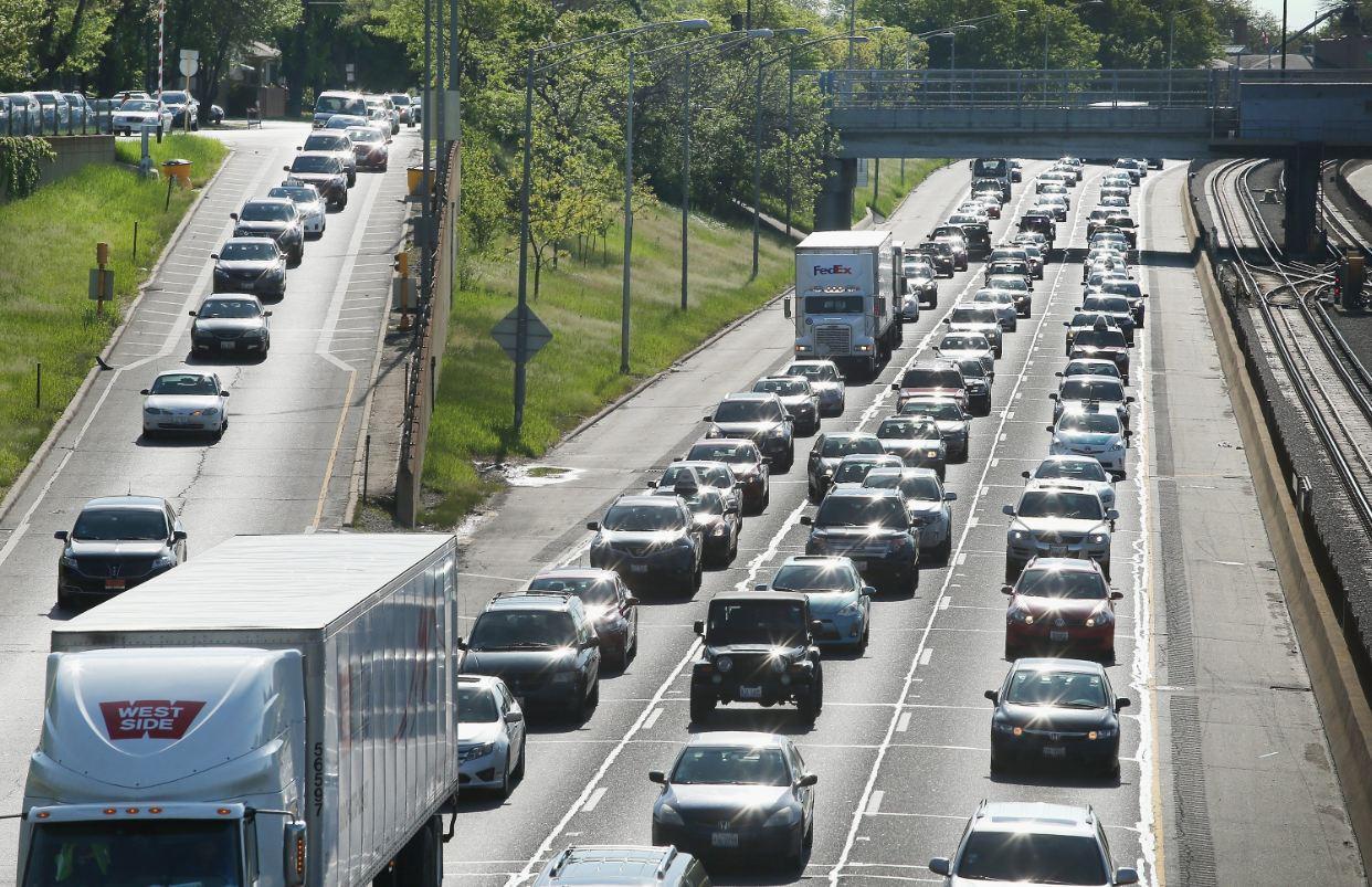 jammed highway