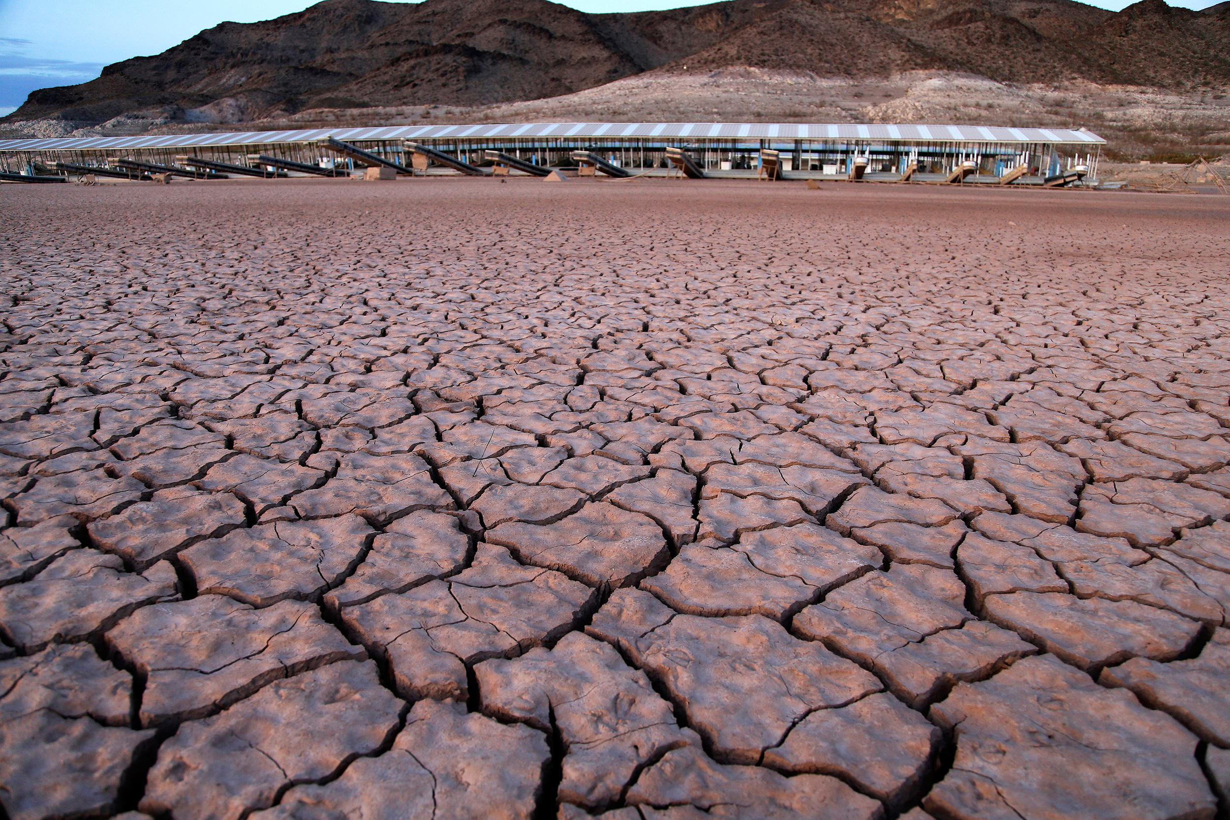 Image:  Echo Bay Marina sits high and dry next to Lake Mead in the Lake Mead National Recreation Area in Nevada