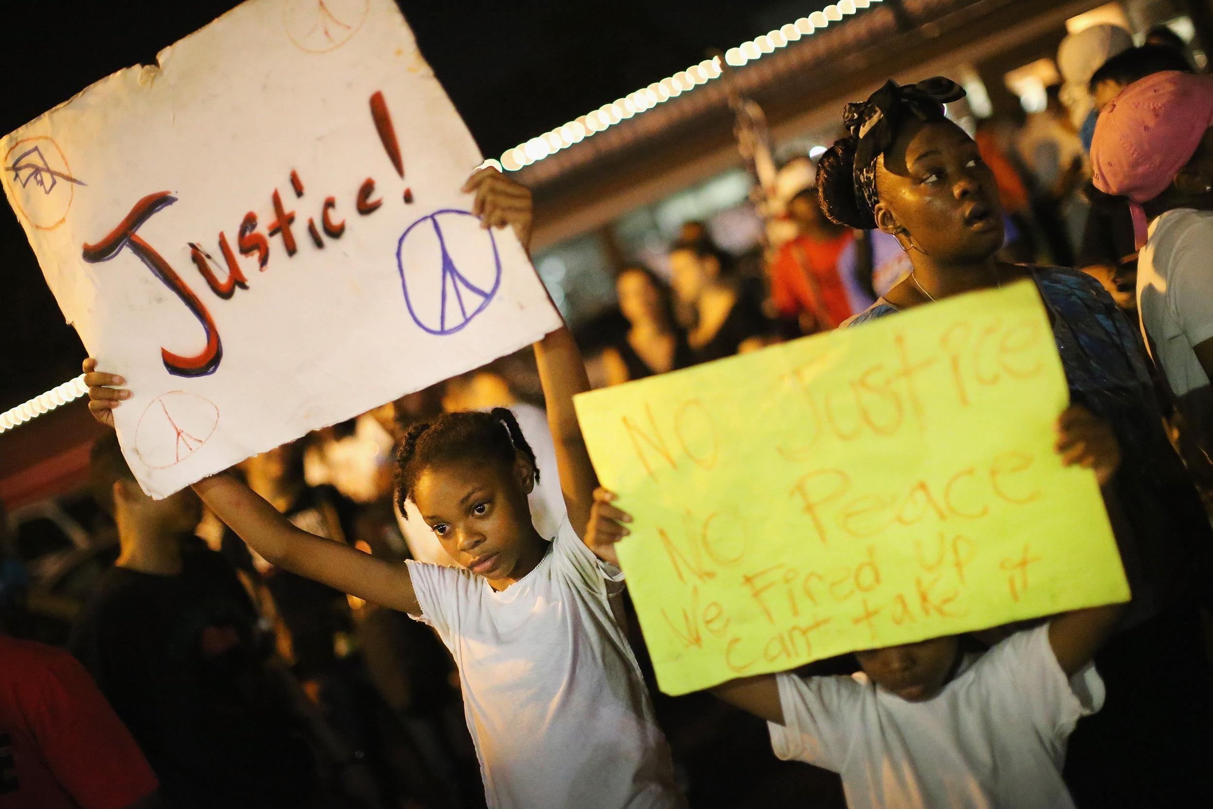 Image: Ferguson Community Continues To Demonstrate Over Police Shooting Death Of Michael Brown