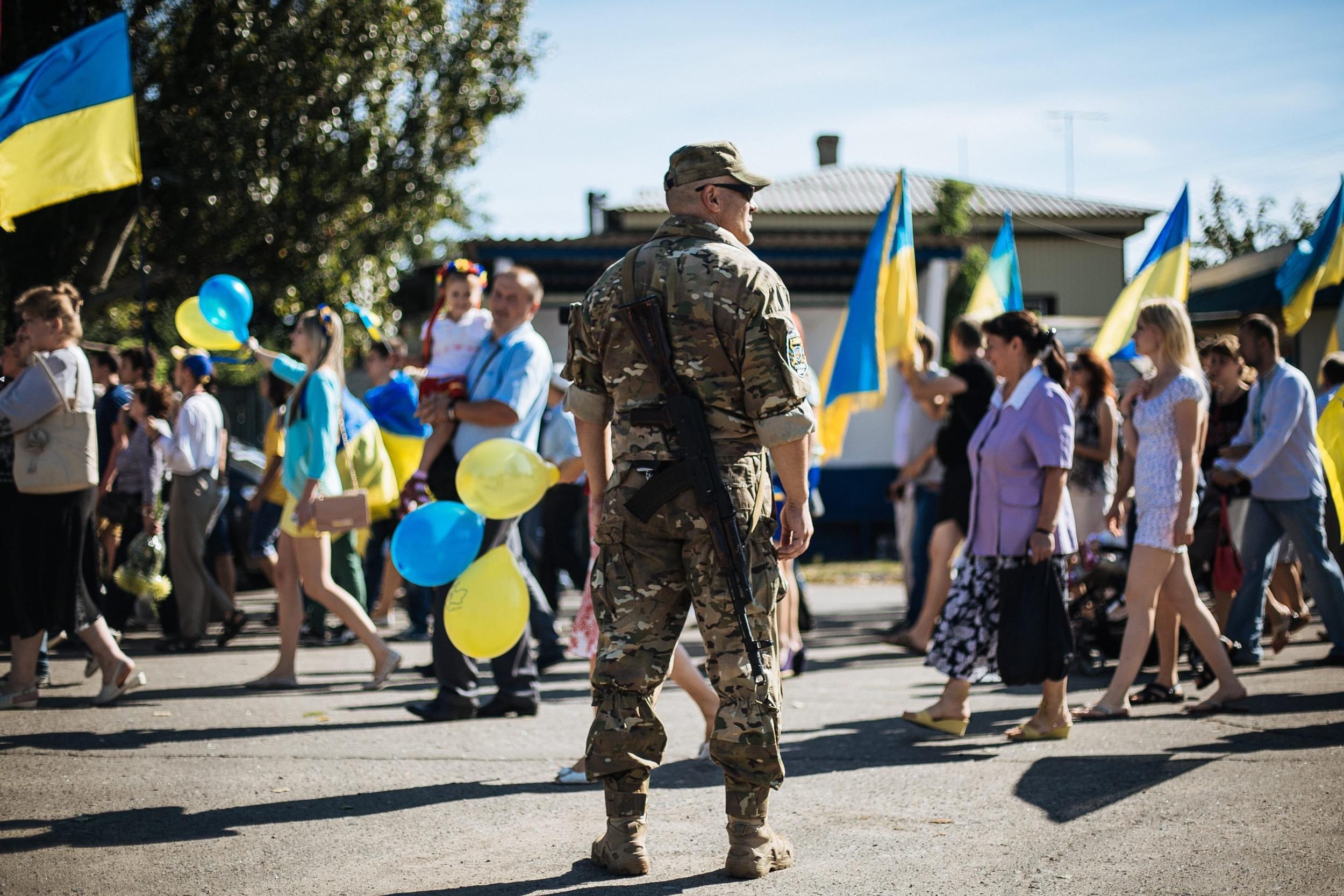 Image: Ukrainians mark Independence Day