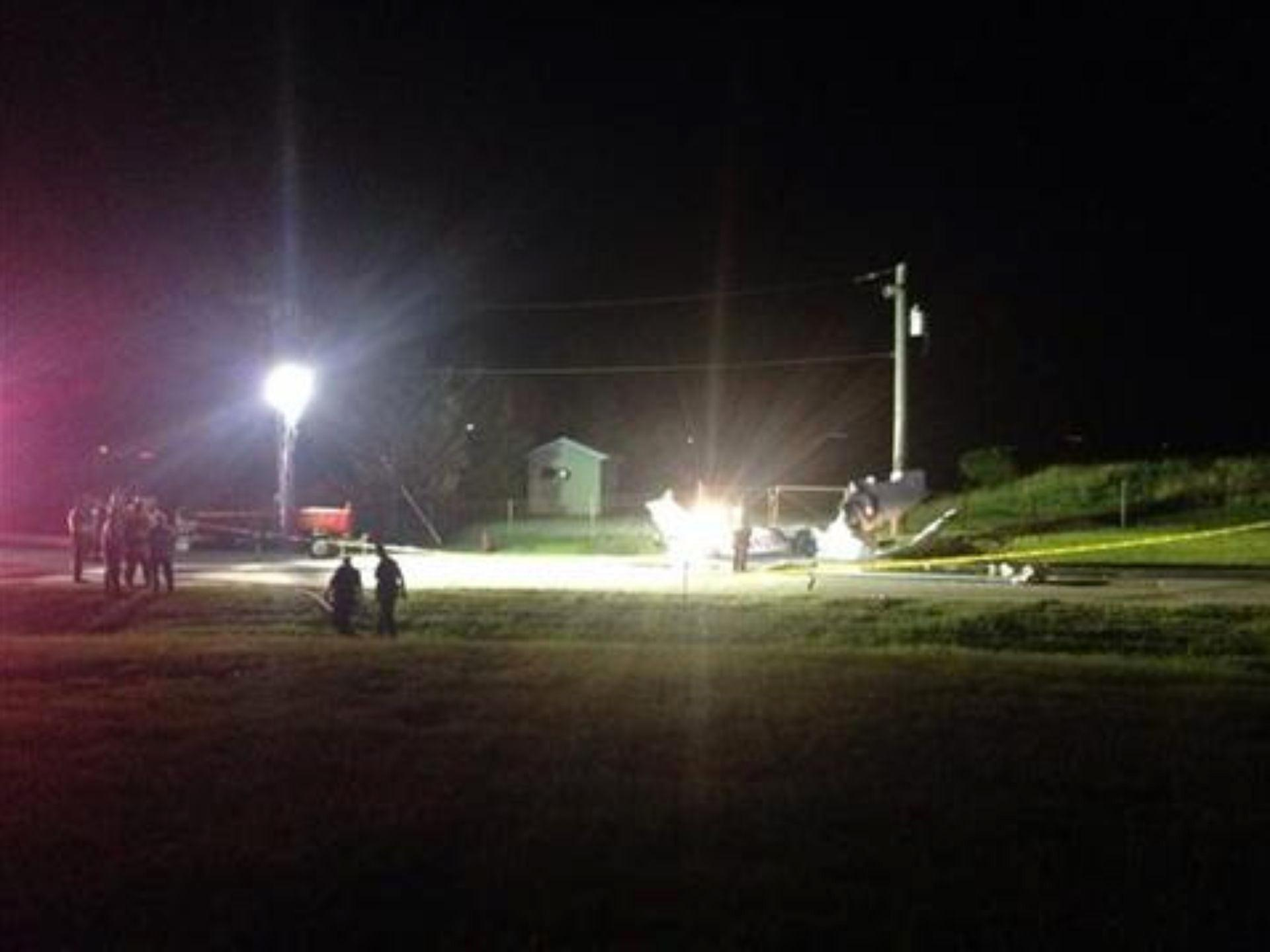 Image: Four people died in a fiery plane crash at the Cuyahoga County Airport in Ohio late Monday night.
