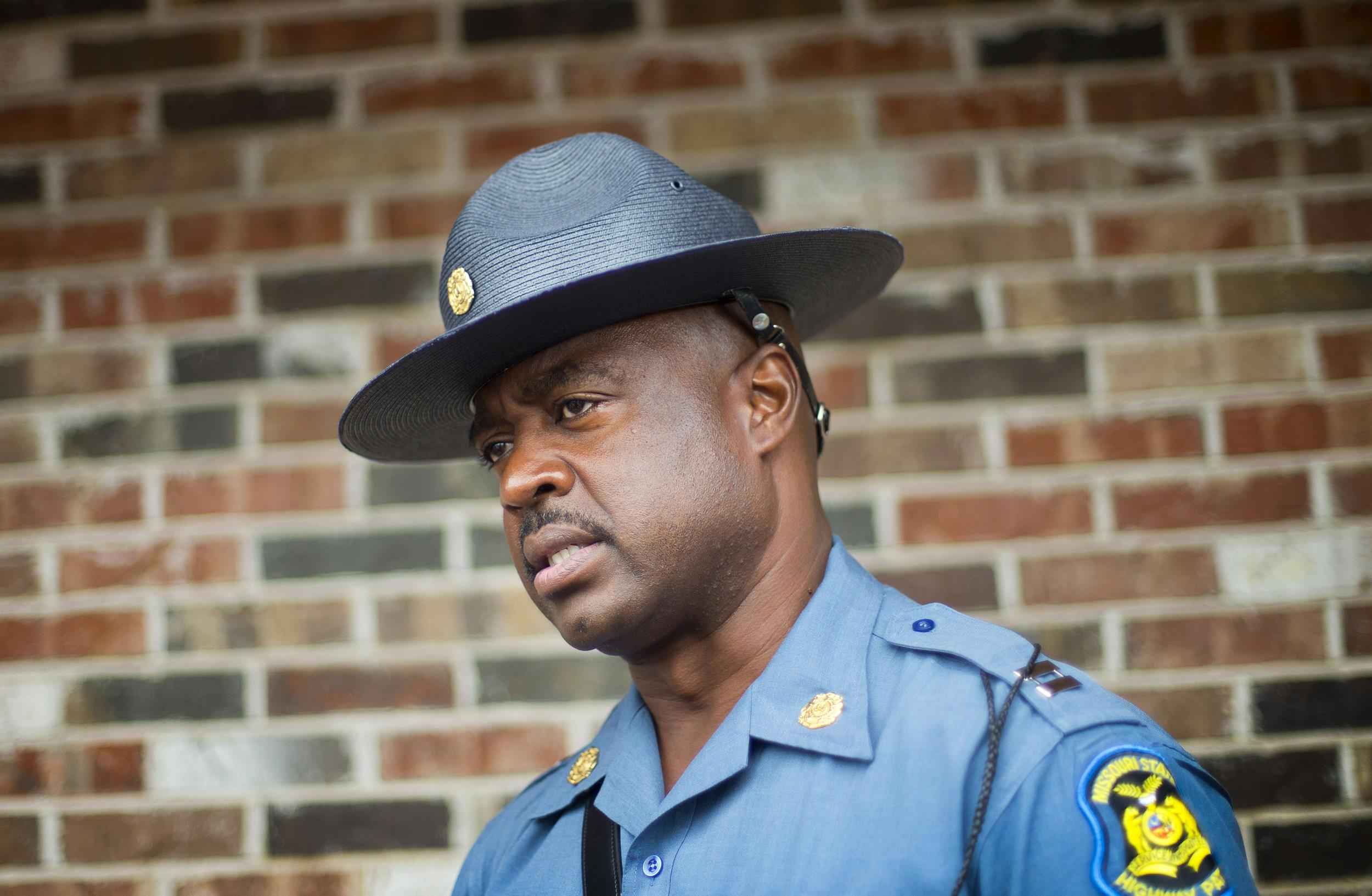 Image: Capt. Ron Johnson of the Missouri State Highway Patrol speaks
