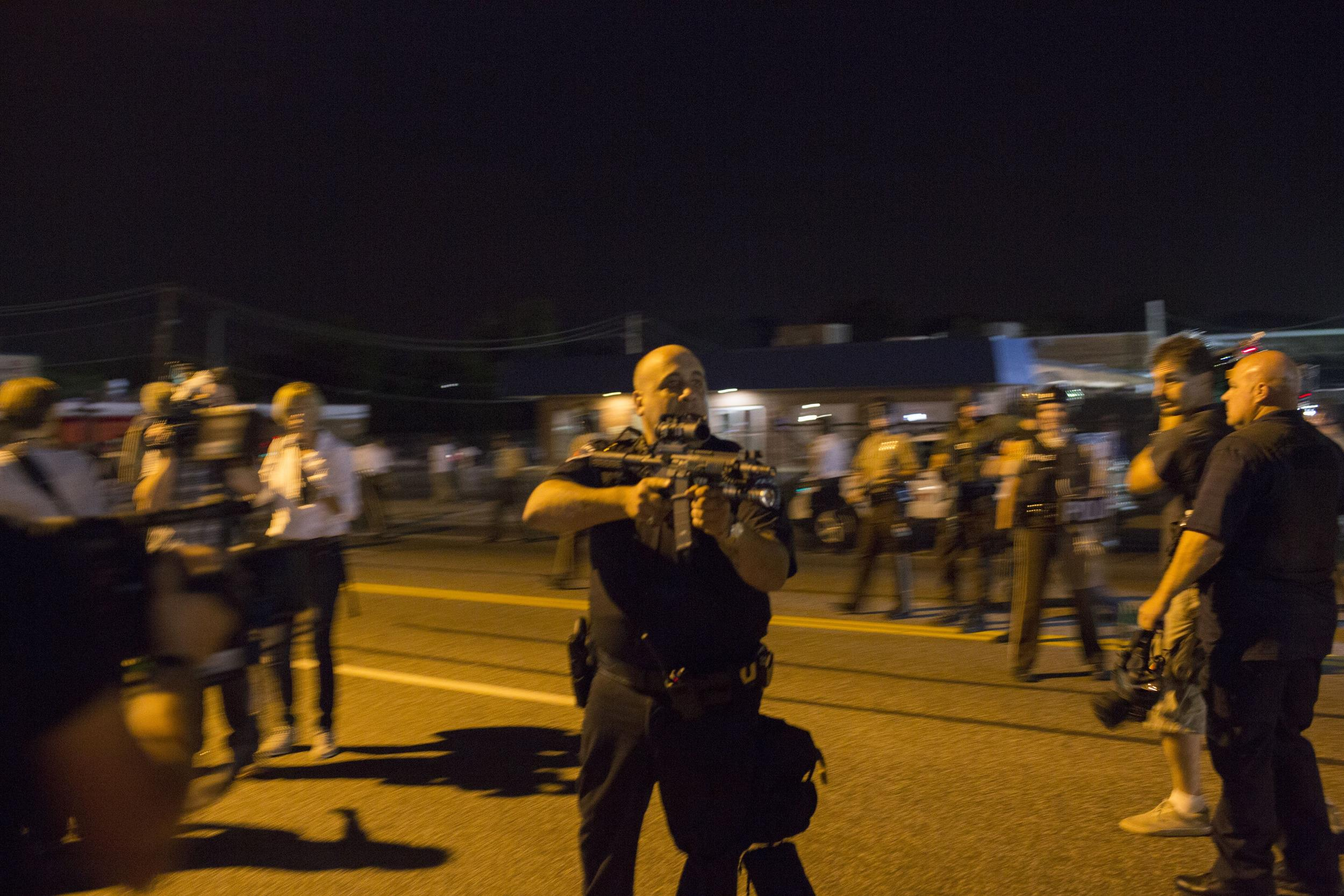 Image: Cop Suspended Indefinitely After Threatening To Kill Ferguson Protestor