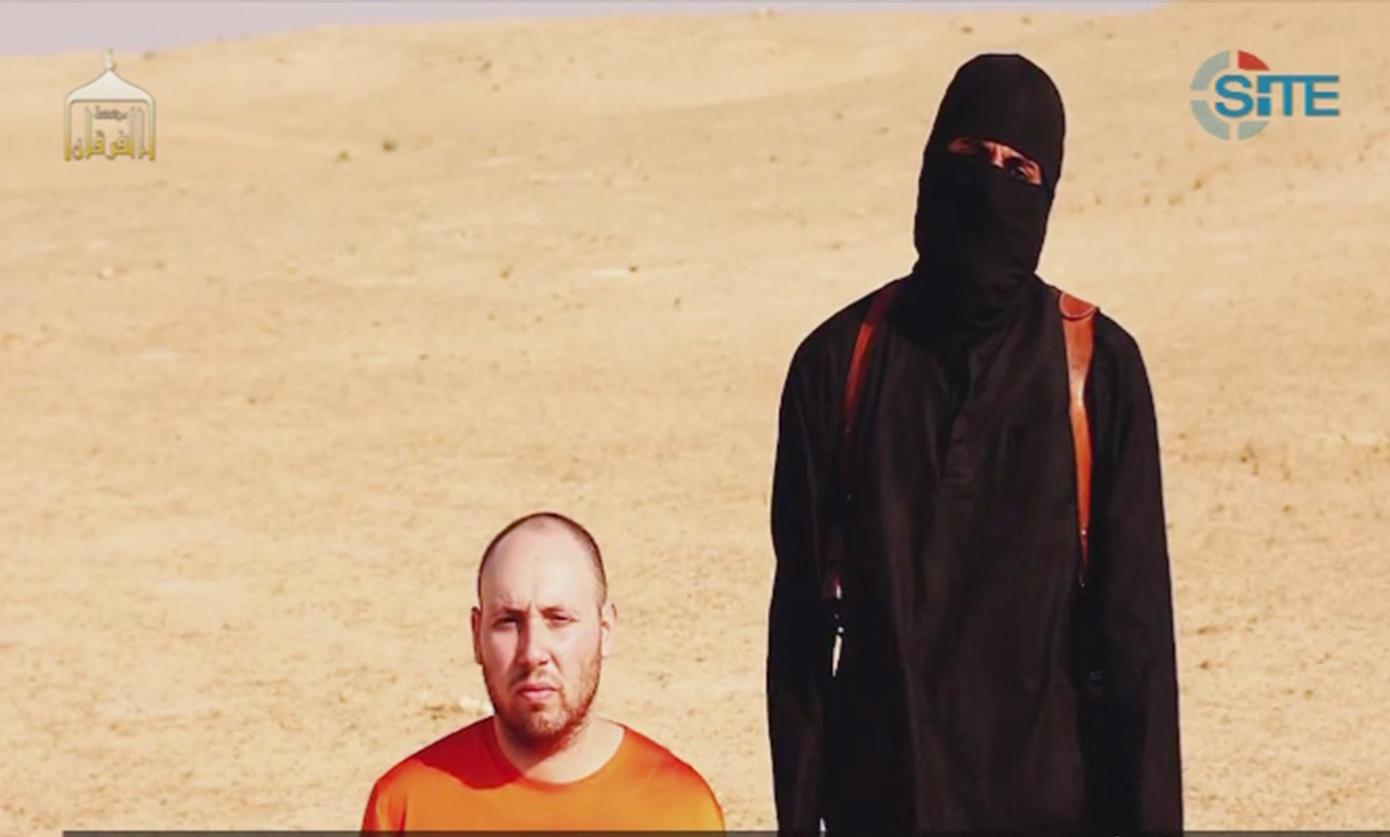 Frame grab taken from ISIS video purporting to show beheading of American journalist Steven Sotloff