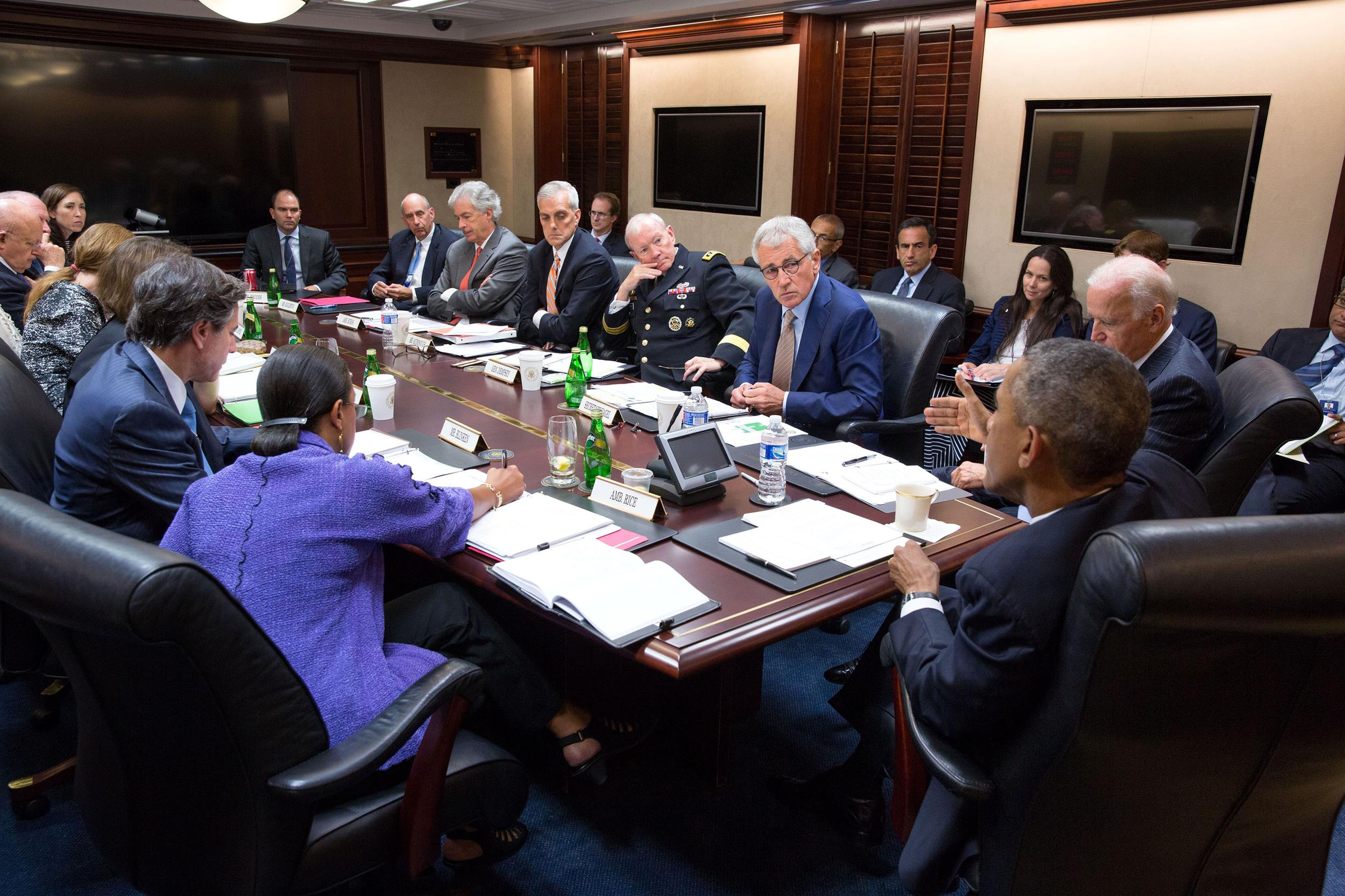 Obama Meets In Situation Room Ahead Of National Address