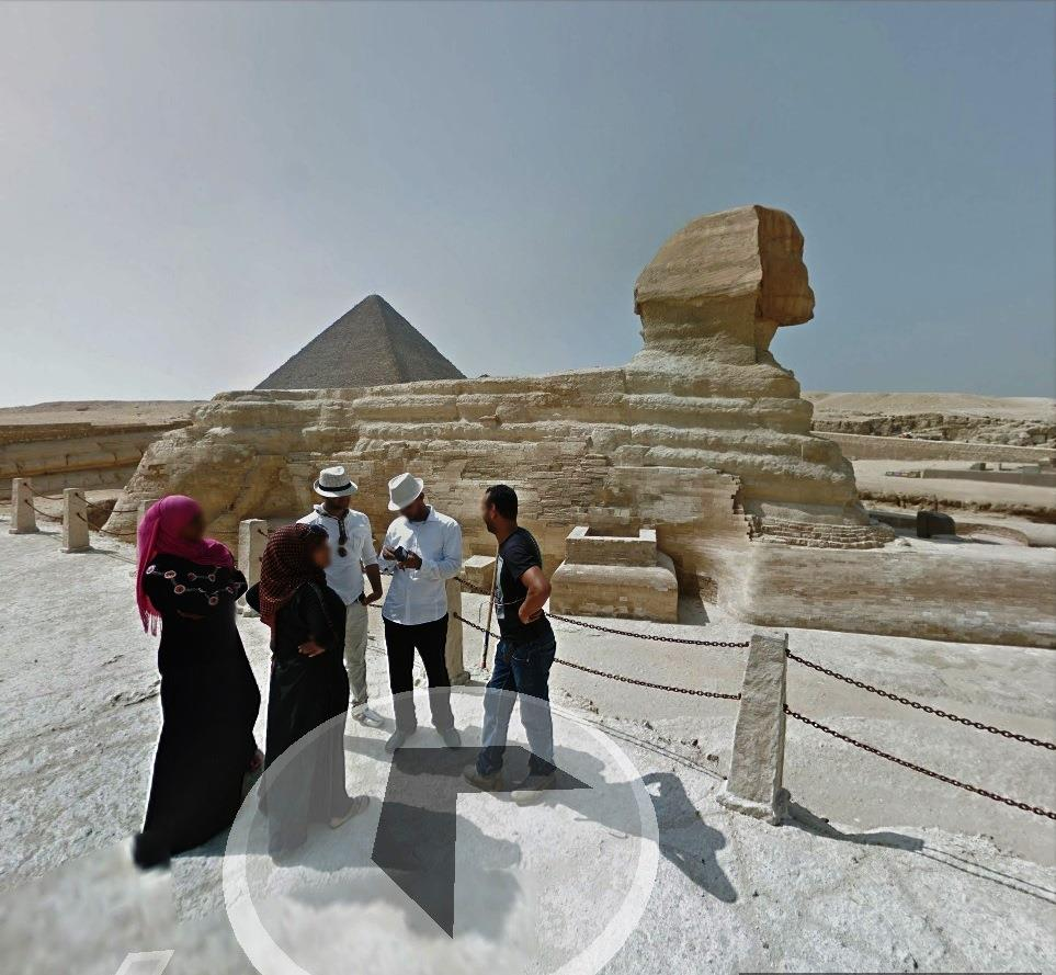 Tour Egypts Pyramids And The Sphinx With Google Maps NBC News - Map of egypt pyramids and sphinx