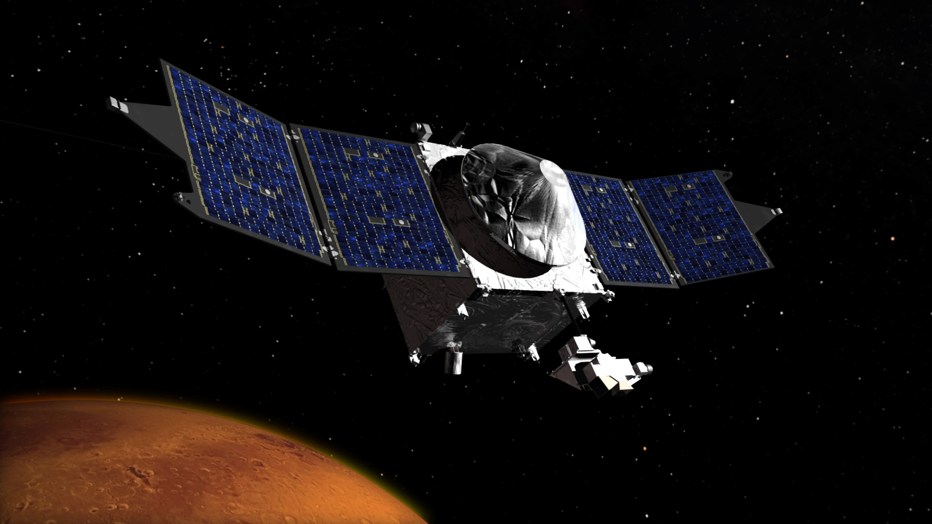 Success Nasa S Maven Probe Goes Into Orbit Around Mars