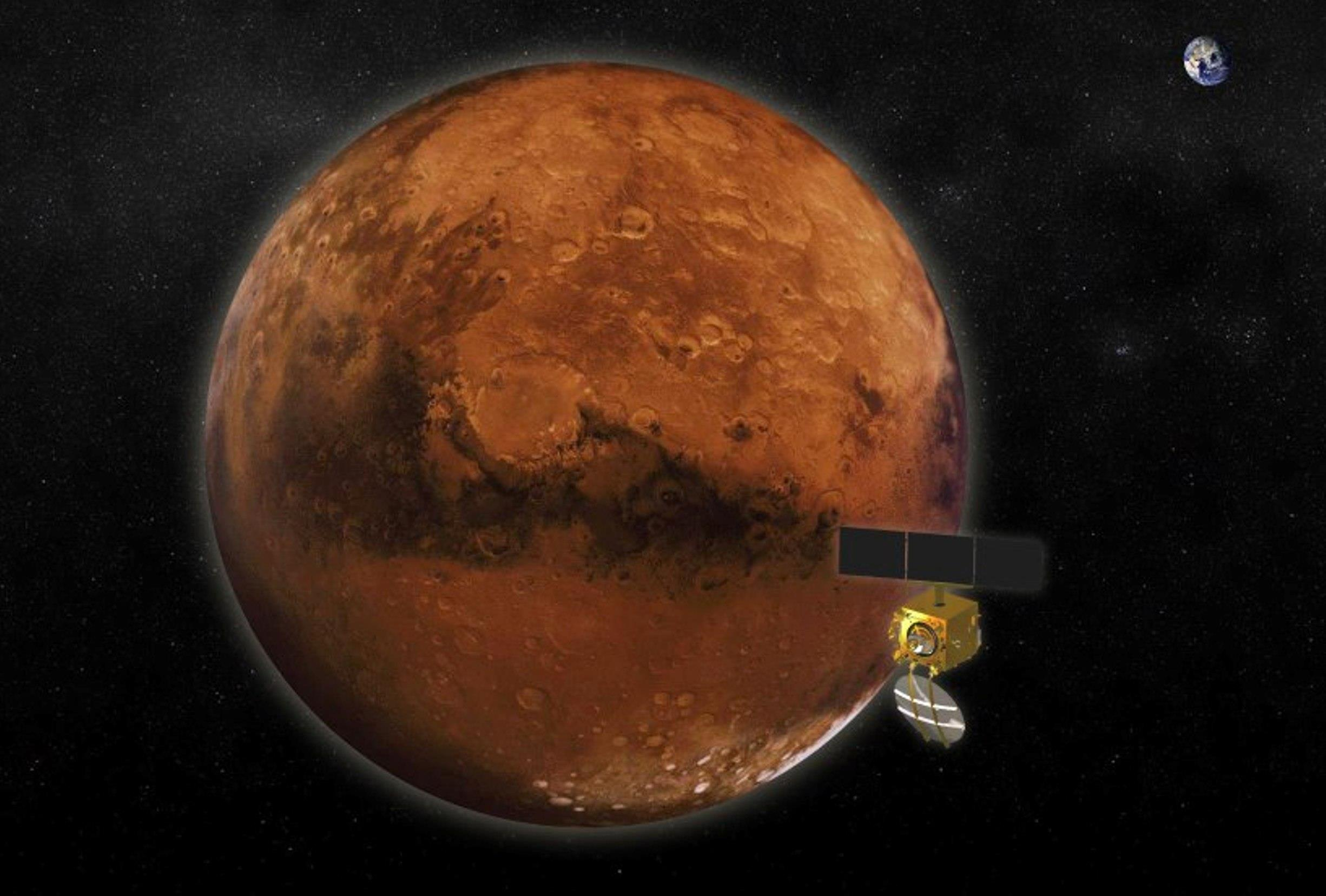 A Shining Symbol Indias Mars Orbiter Mission Goes Into Orbit