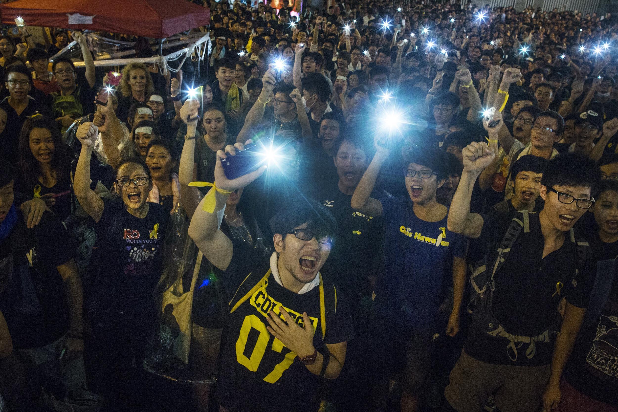 Hong Kong Protesters' Phones