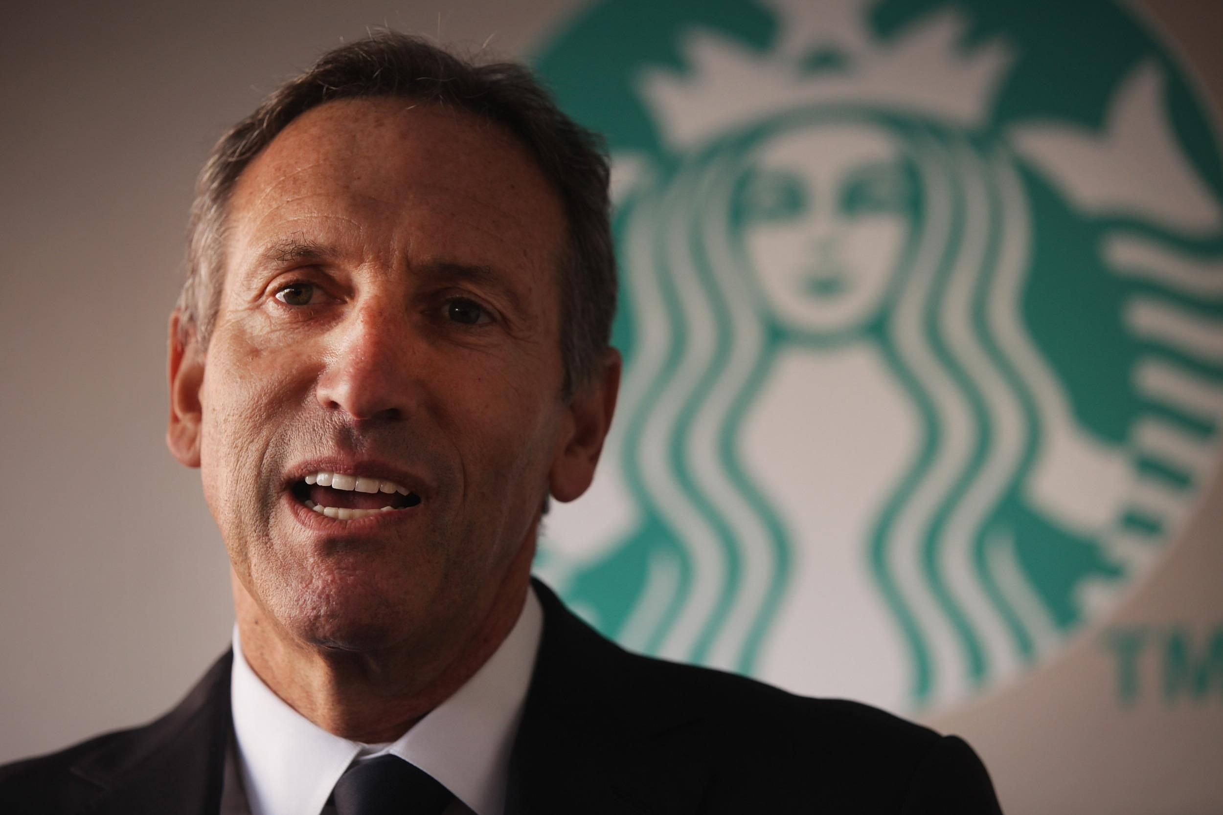 Starbucks ceo says private sector must lead economic for Who are the owners of starbucks