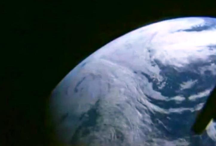 Image: Earth as seen by Orion