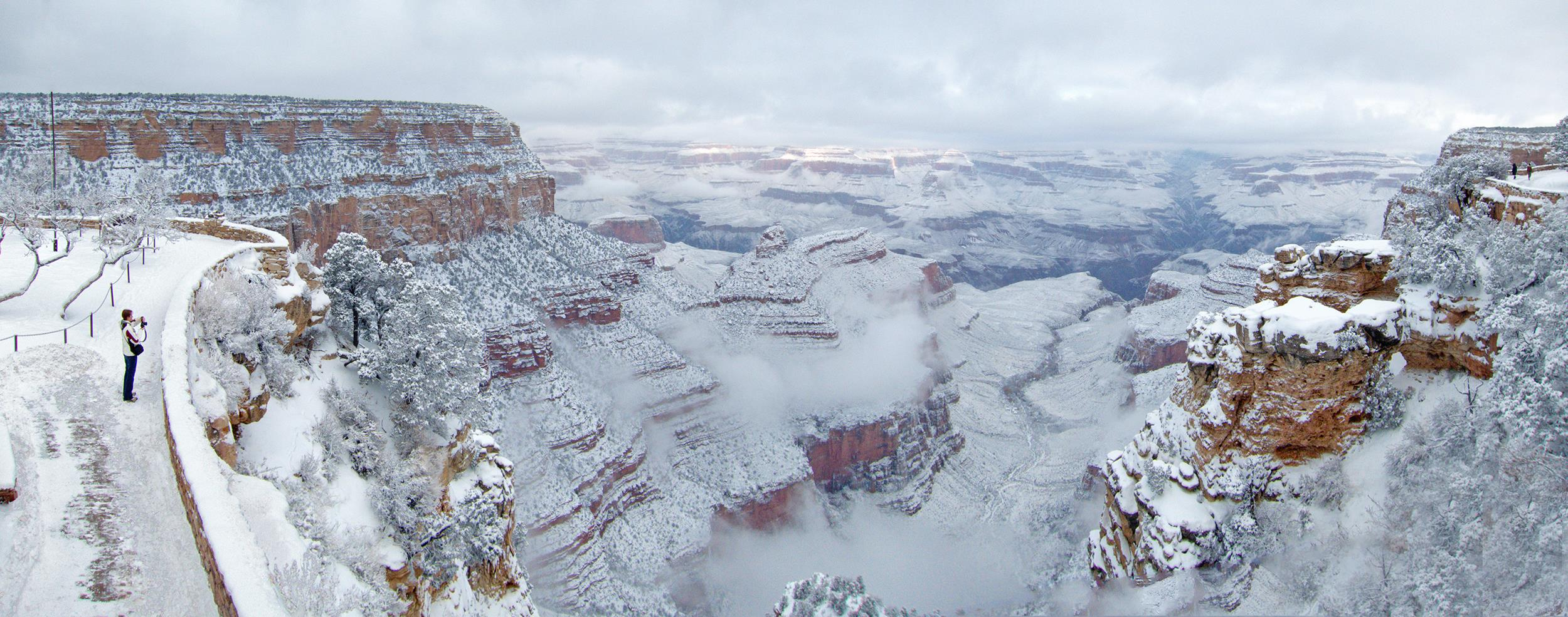 grand canyon enters new year covered in snow nbc news. Black Bedroom Furniture Sets. Home Design Ideas