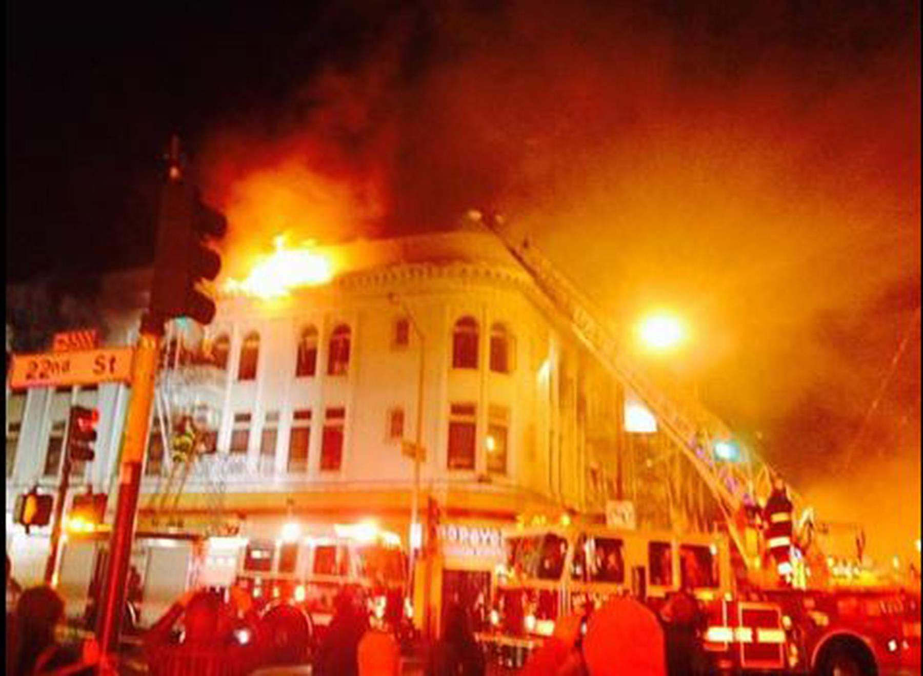 One Dead Fire San Franciscos Mission District N295846 on 22nd Street San Francisco