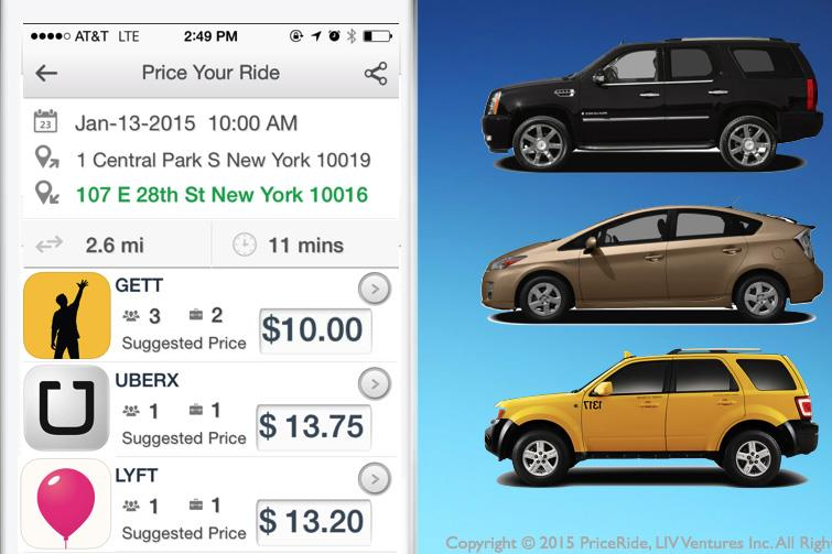 An Uber for Ubers: App Compares Ride-Hailing Prices