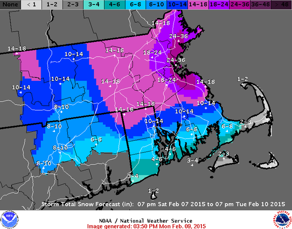 IMAGE: Massachusetts weather map