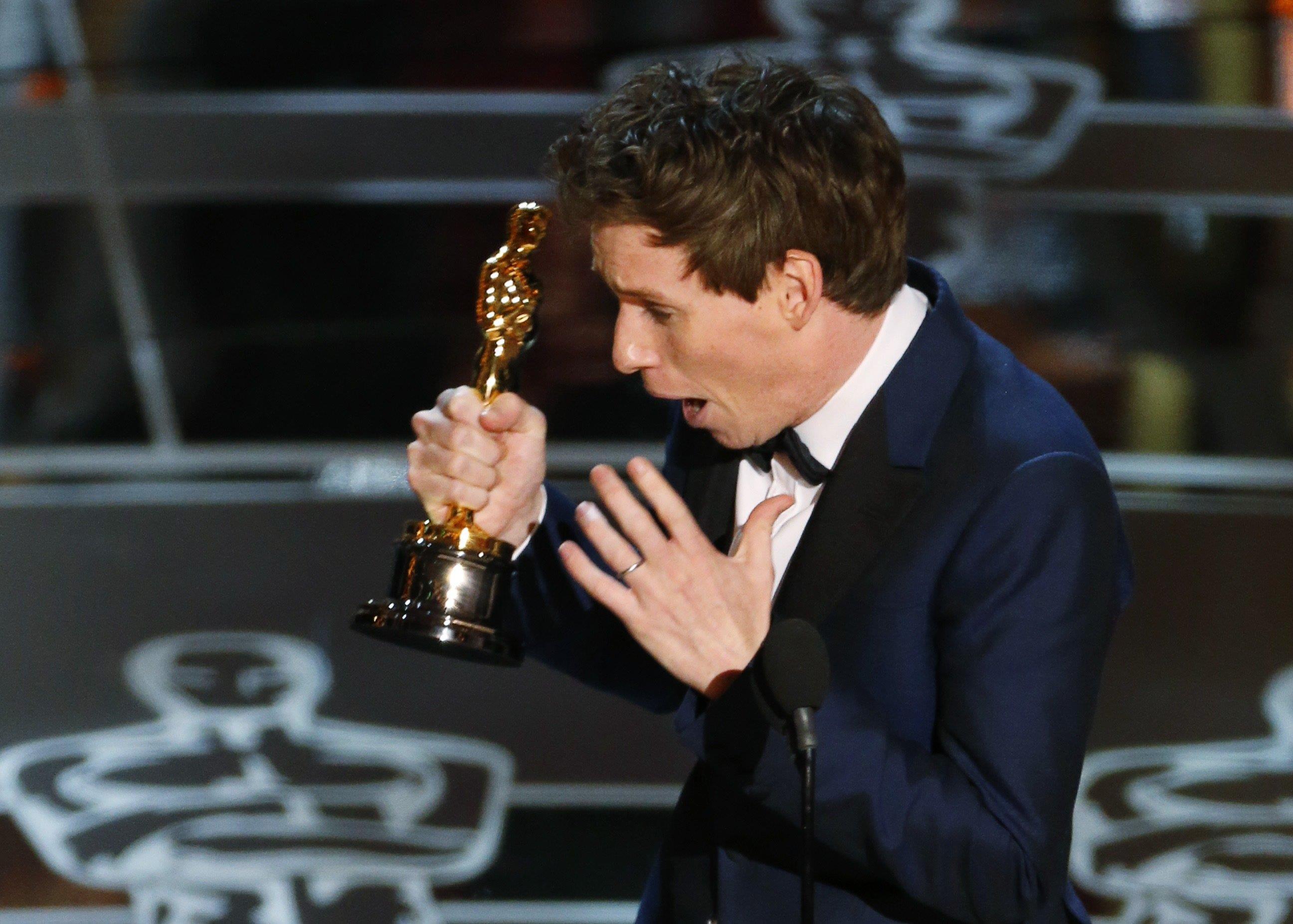 Eddie Redmaynes glädje över hans Oscar-statyett