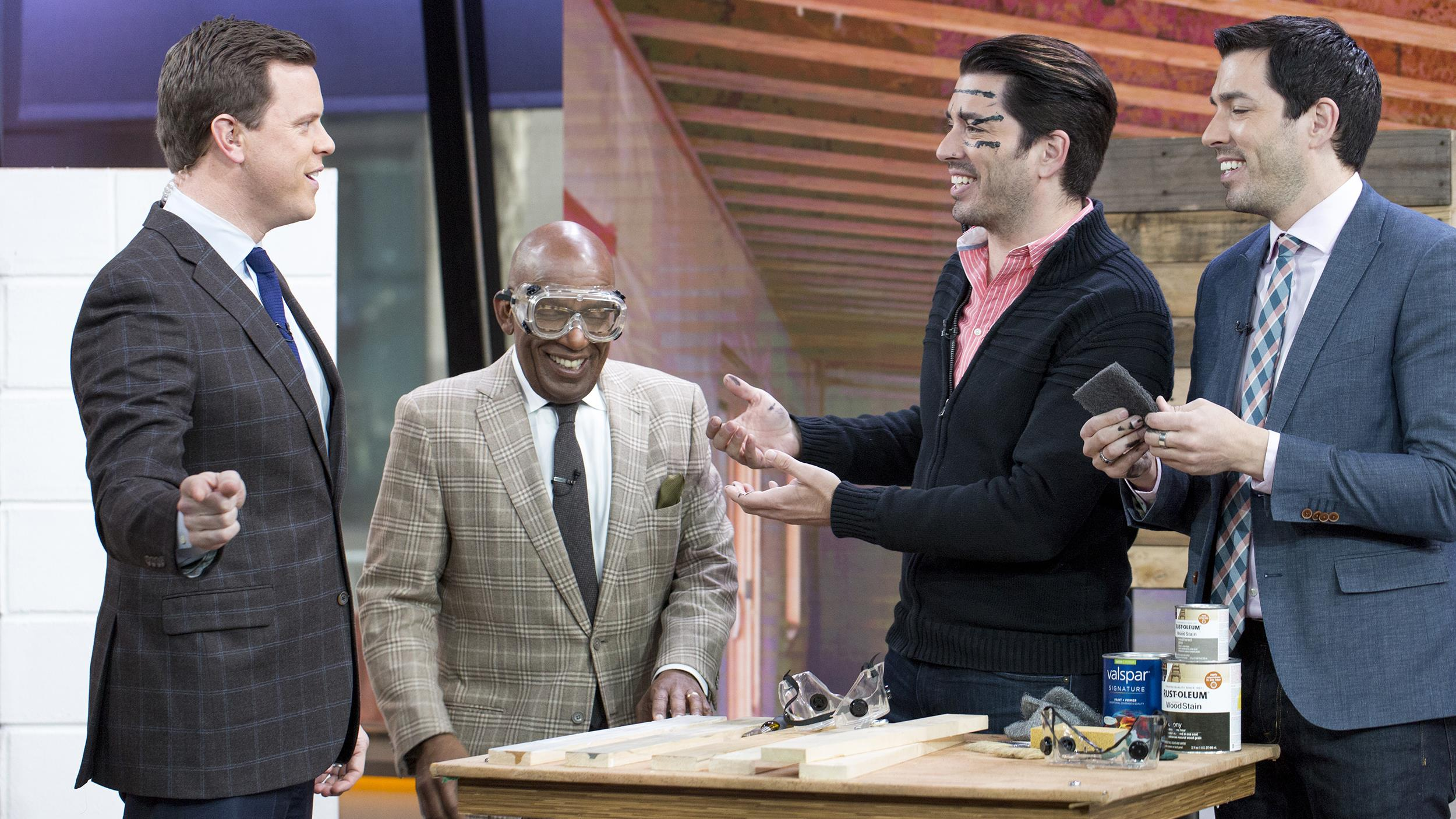 property brothers do basement reno and get pranked by willie geist todaycom - Where Are Property Brothers From