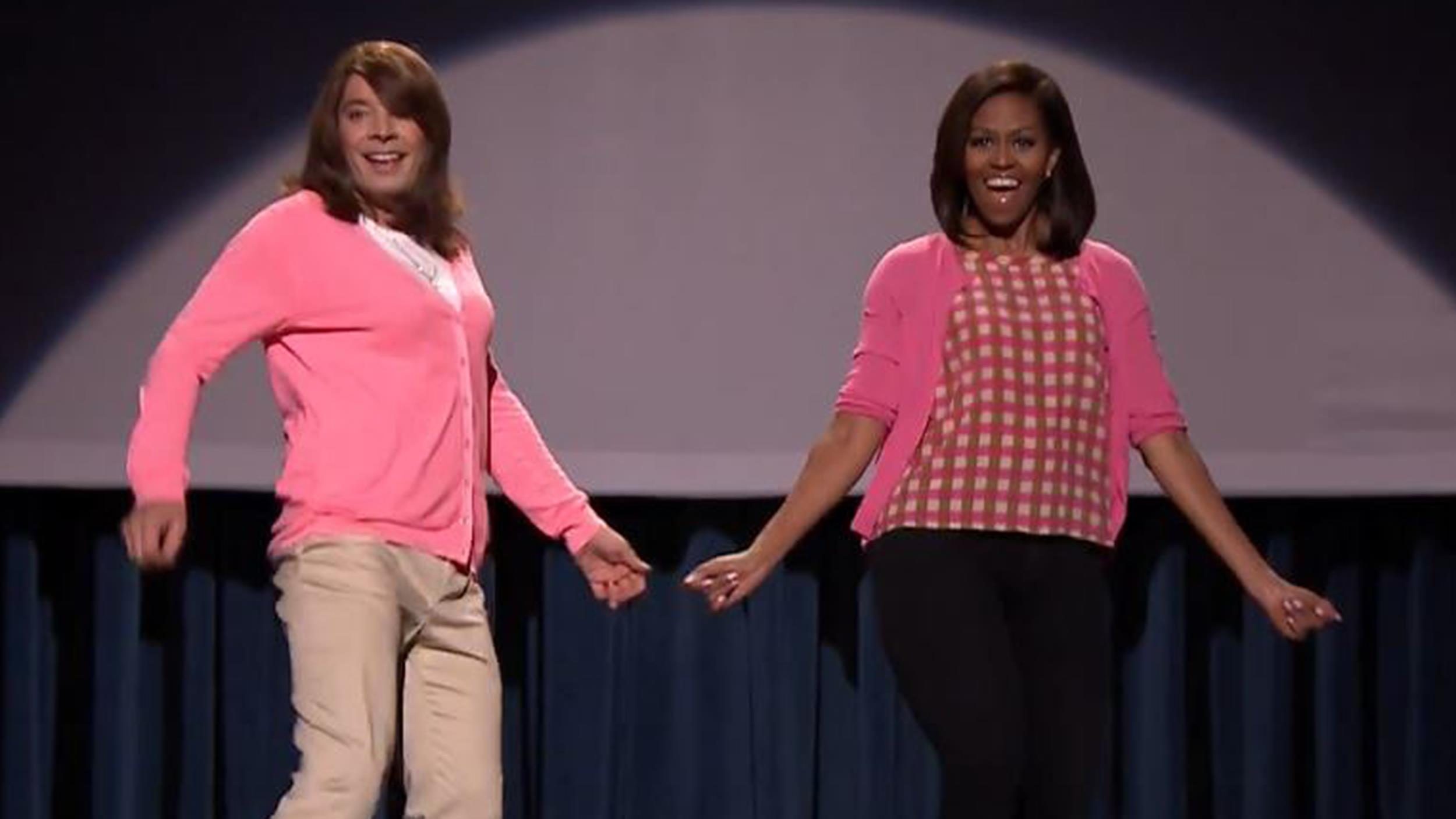 Mom dancing returns! Michelle Obama returns to Jimmy ...