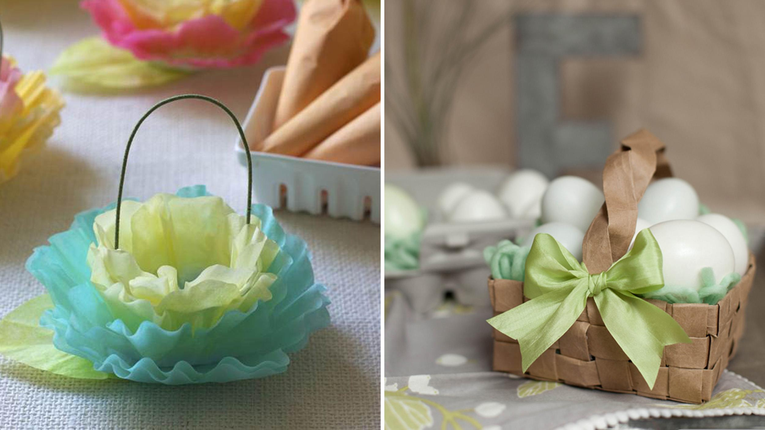 Last minute diy easter baskets inspired by pinterest negle Gallery