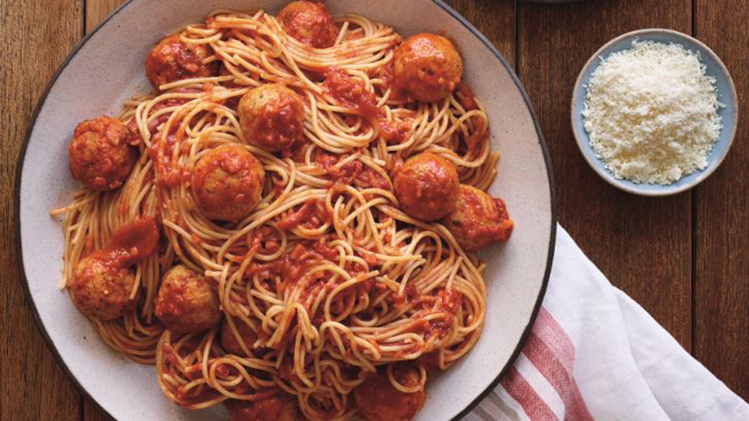 Healthy spaghetti with meatballs pasta under 500 calories forumfinder Gallery